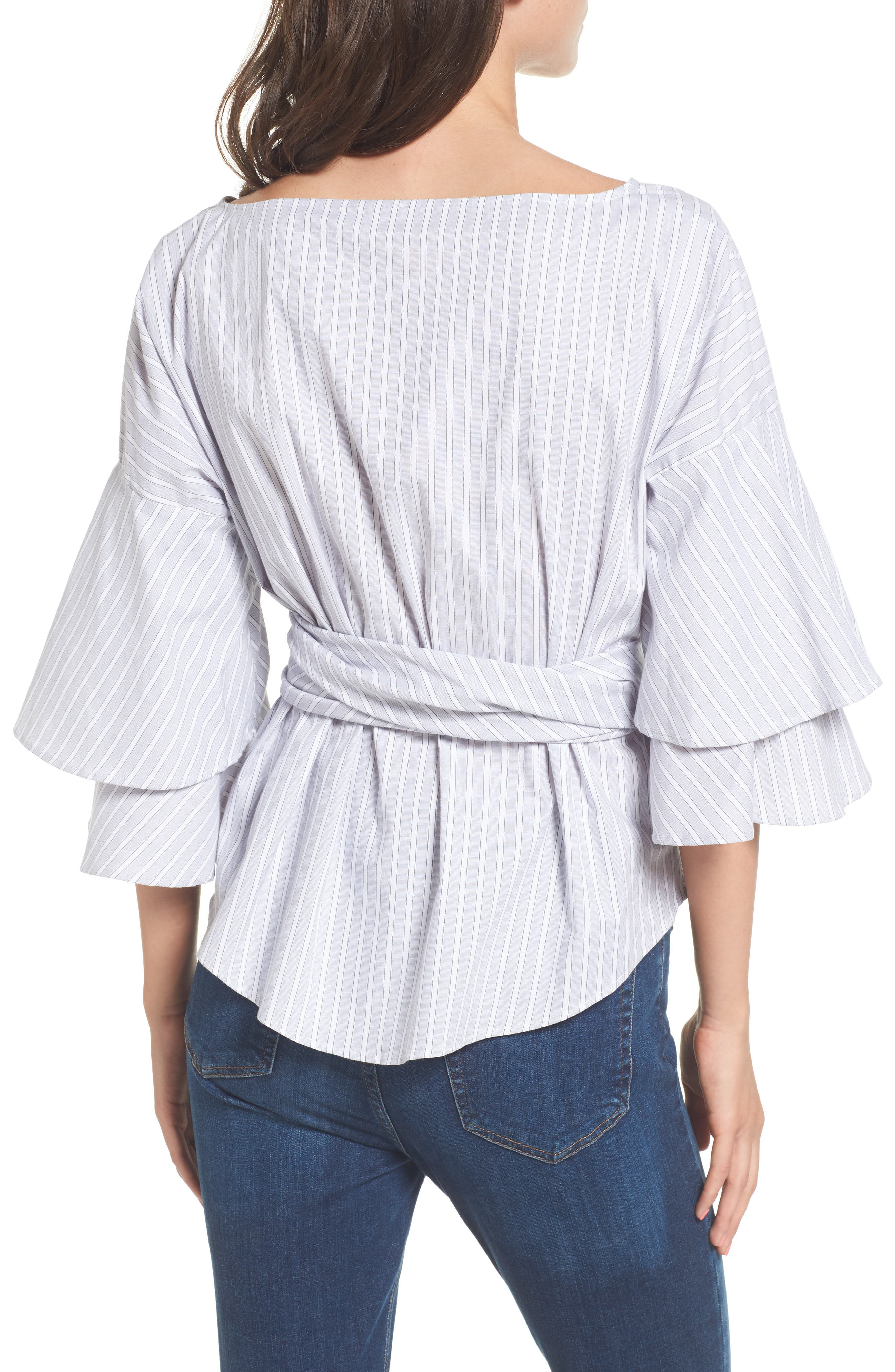 Beckett Tiered Bell Sleeve Top,                             Alternate thumbnail 9, color,