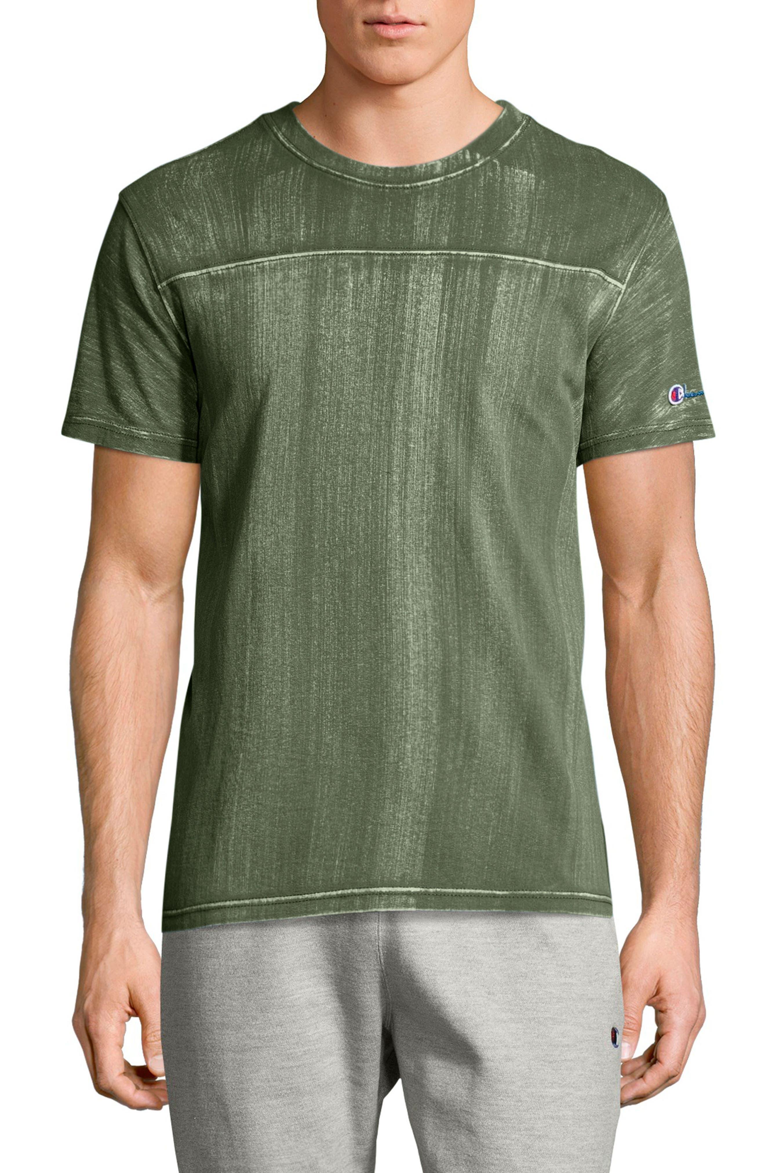 Bleached Wash Crewneck Cotton T-Shirt,                         Main,                         color,