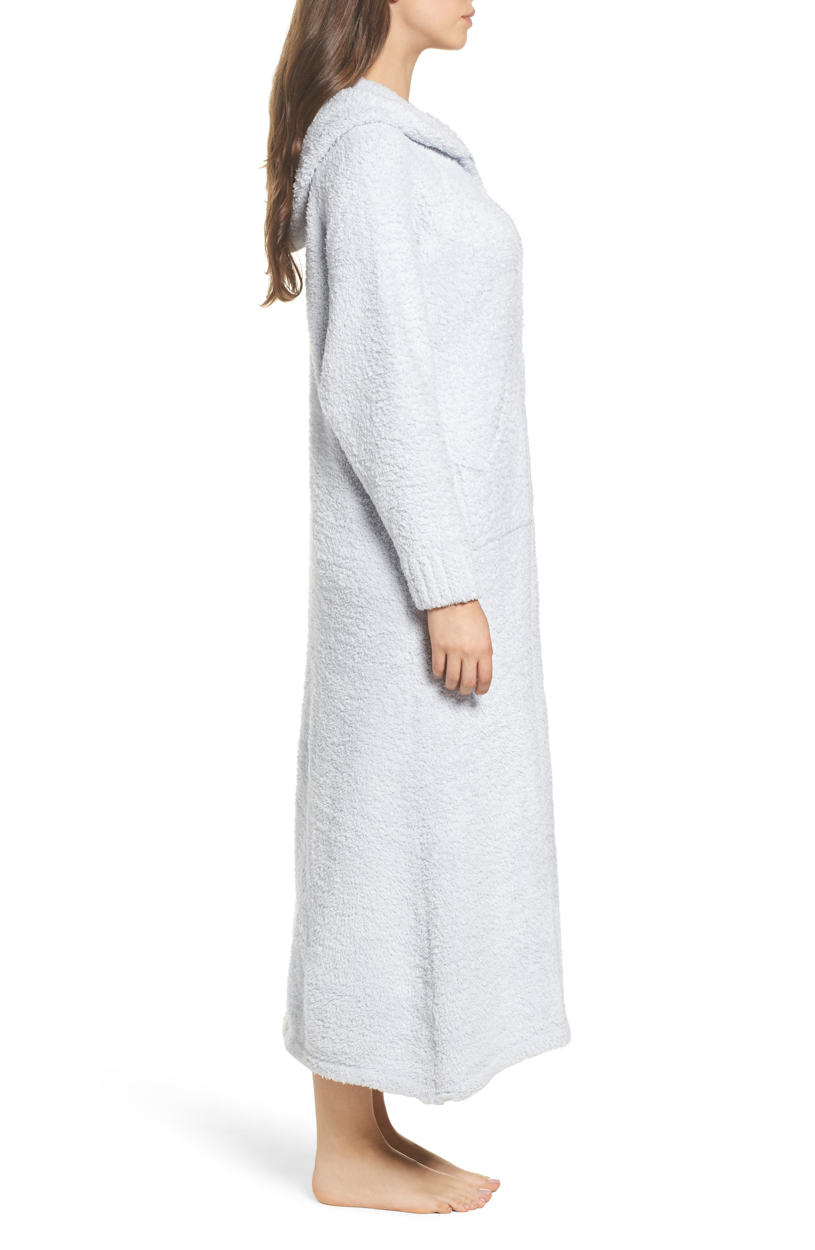 CozyChic<sup>®</sup> Hooded Zip Robe,                             Alternate thumbnail 3, color,                             BLUE