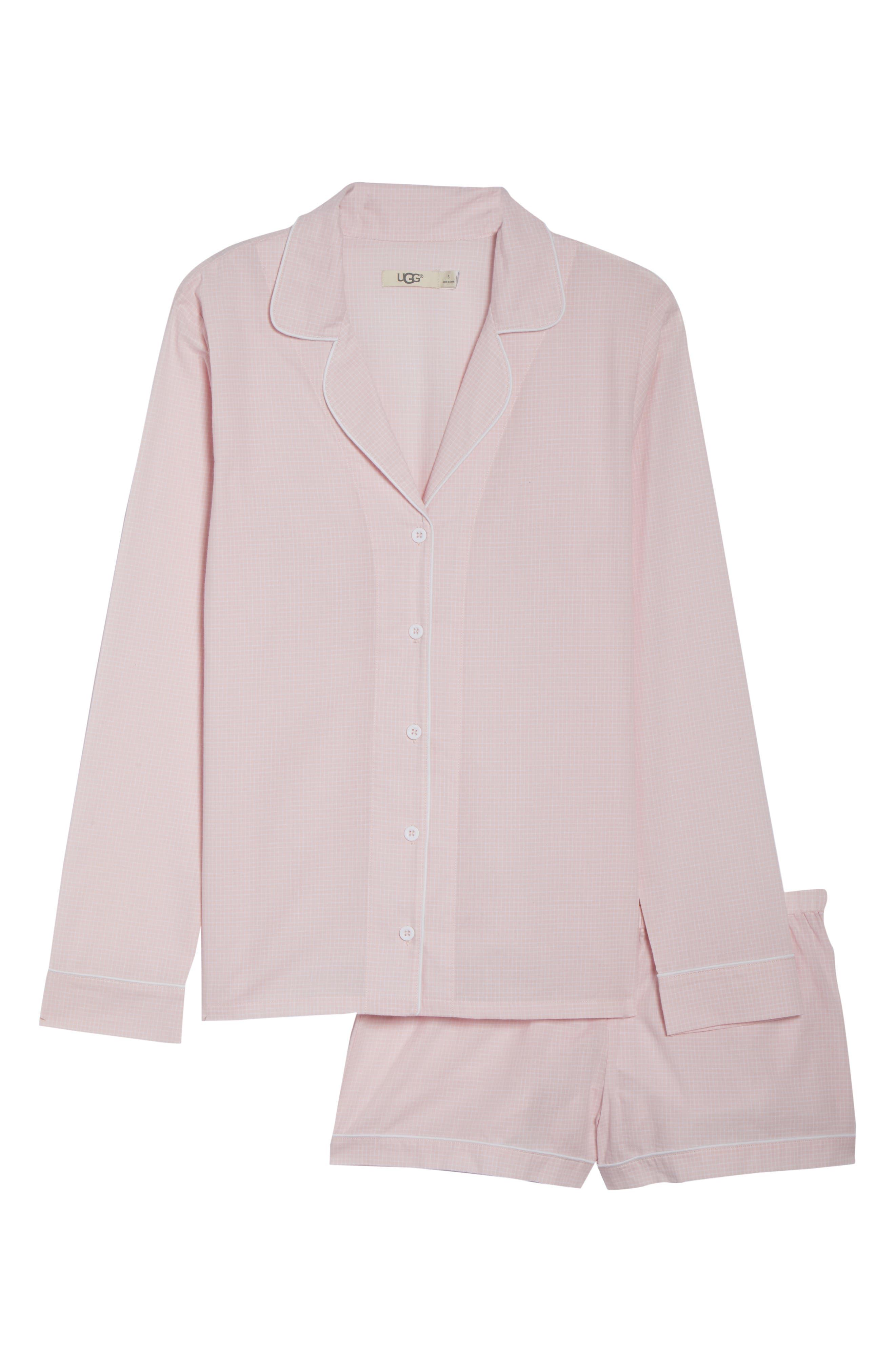 UGG<SUP>®</SUP>,                             Cassandra Check Pajamas,                             Alternate thumbnail 6, color,                             656