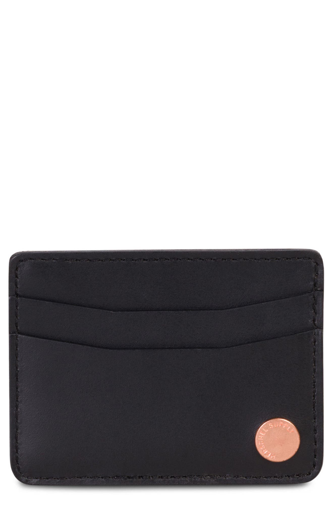 Ace Leather Card Case,                             Main thumbnail 1, color,                             001