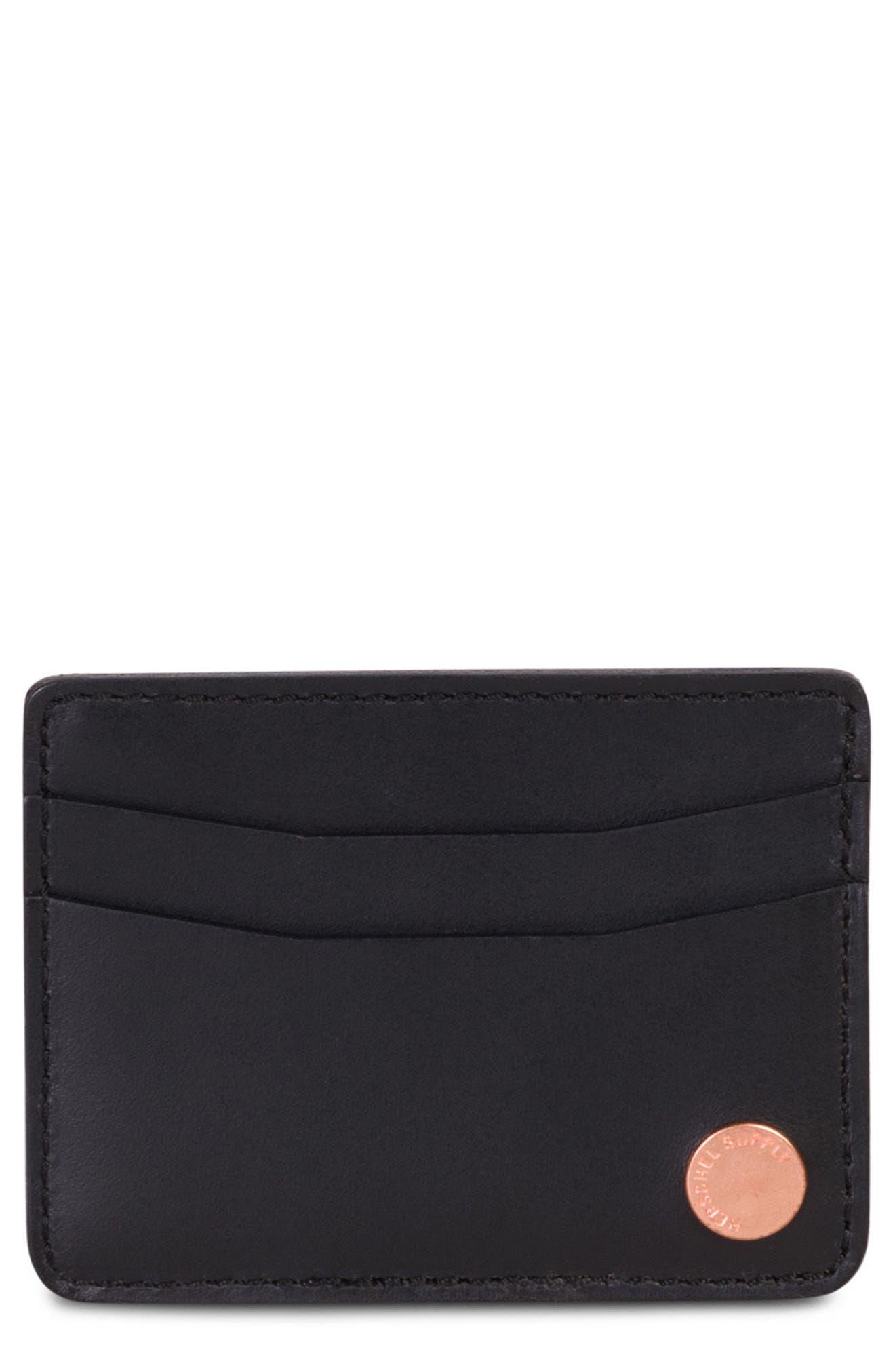 Ace Leather Card Case,                         Main,                         color, 001