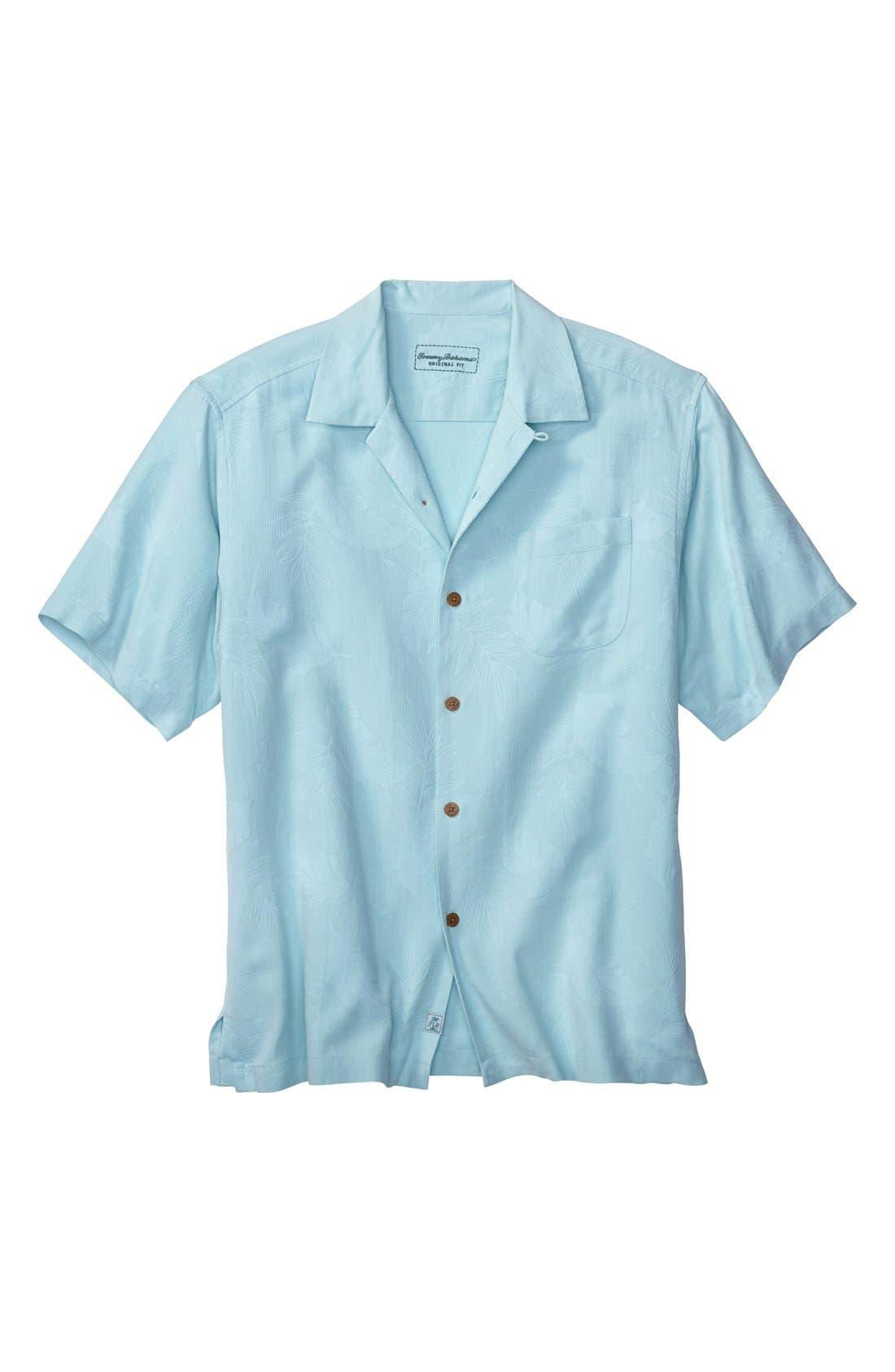 Rio Fronds Short Sleeve Silk Sport Shirt,                             Main thumbnail 8, color,