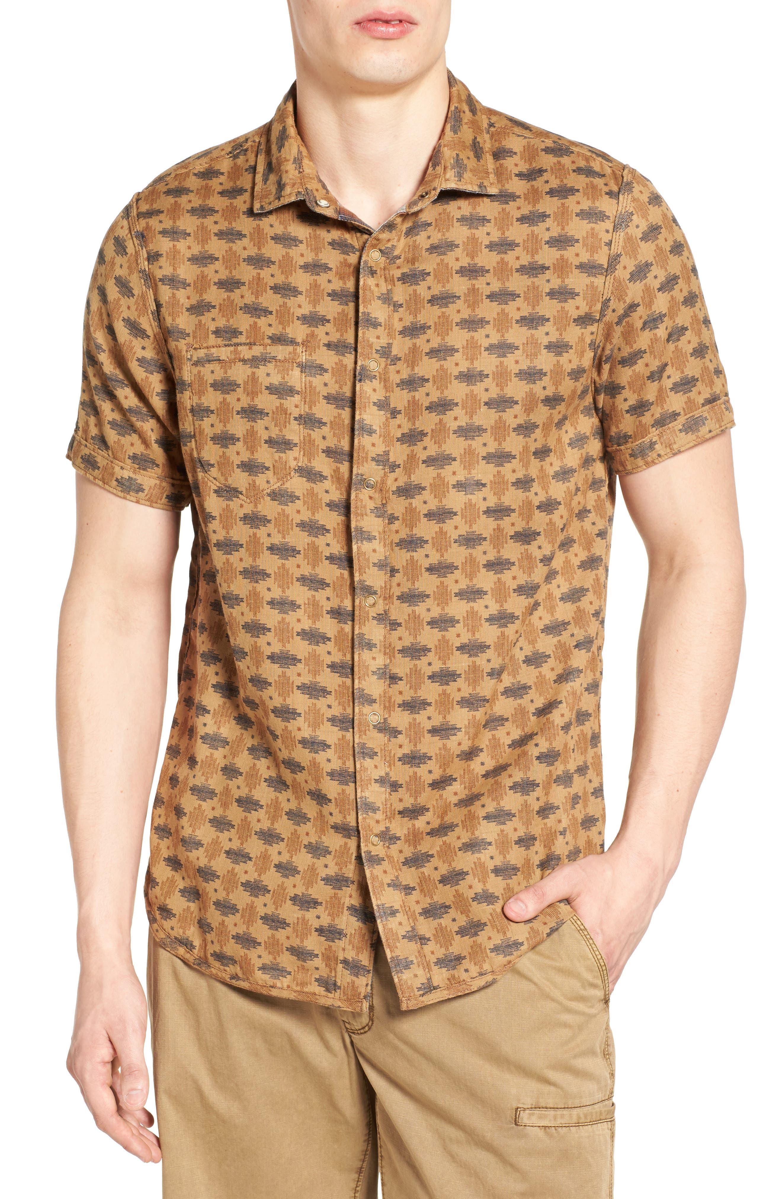 Badlands Regular Fit Reversible Plaid Sport Shirt,                             Alternate thumbnail 4, color,
