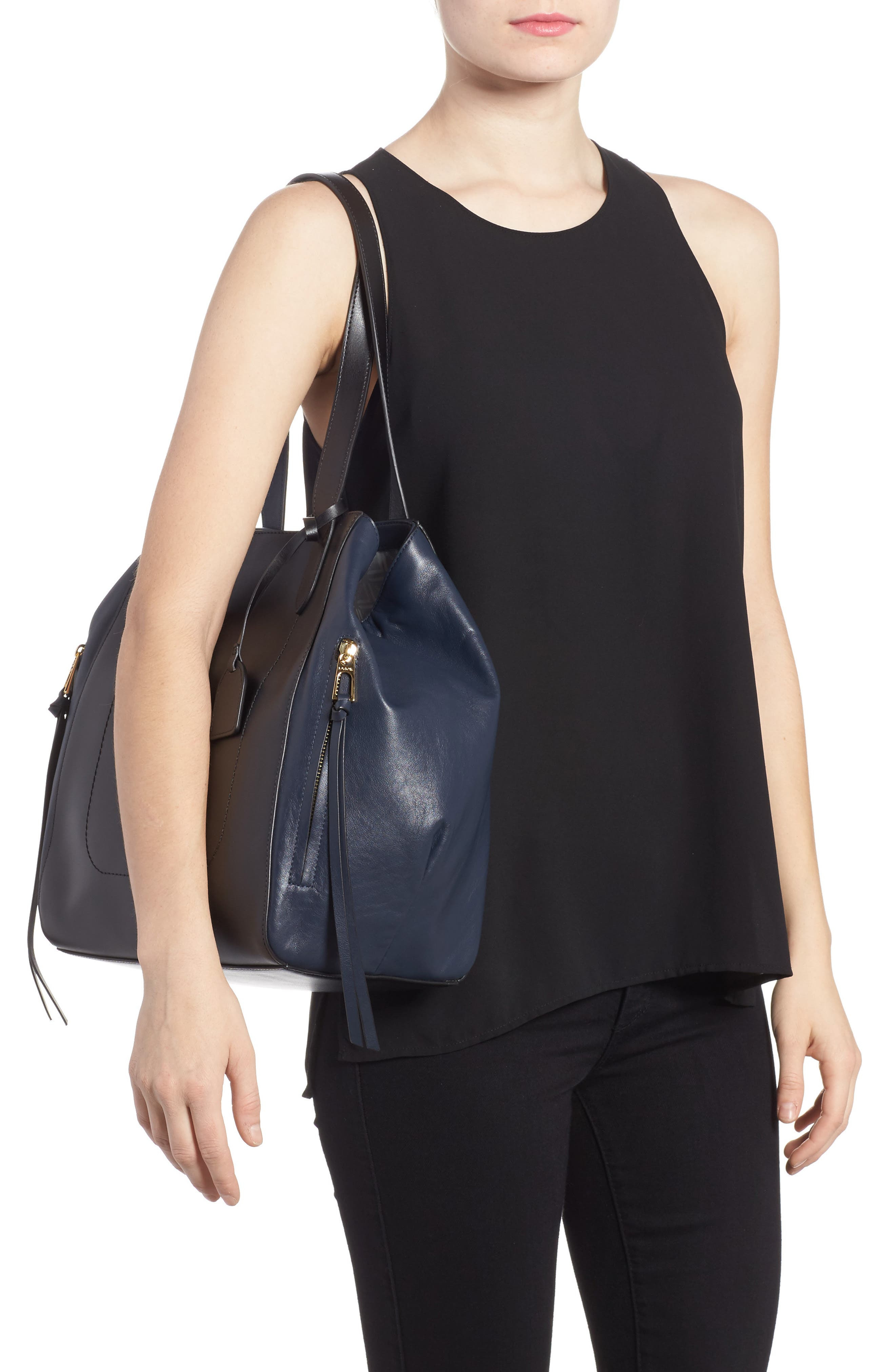 Downtown Charlize RFID Leather Tote,                             Alternate thumbnail 5, color,