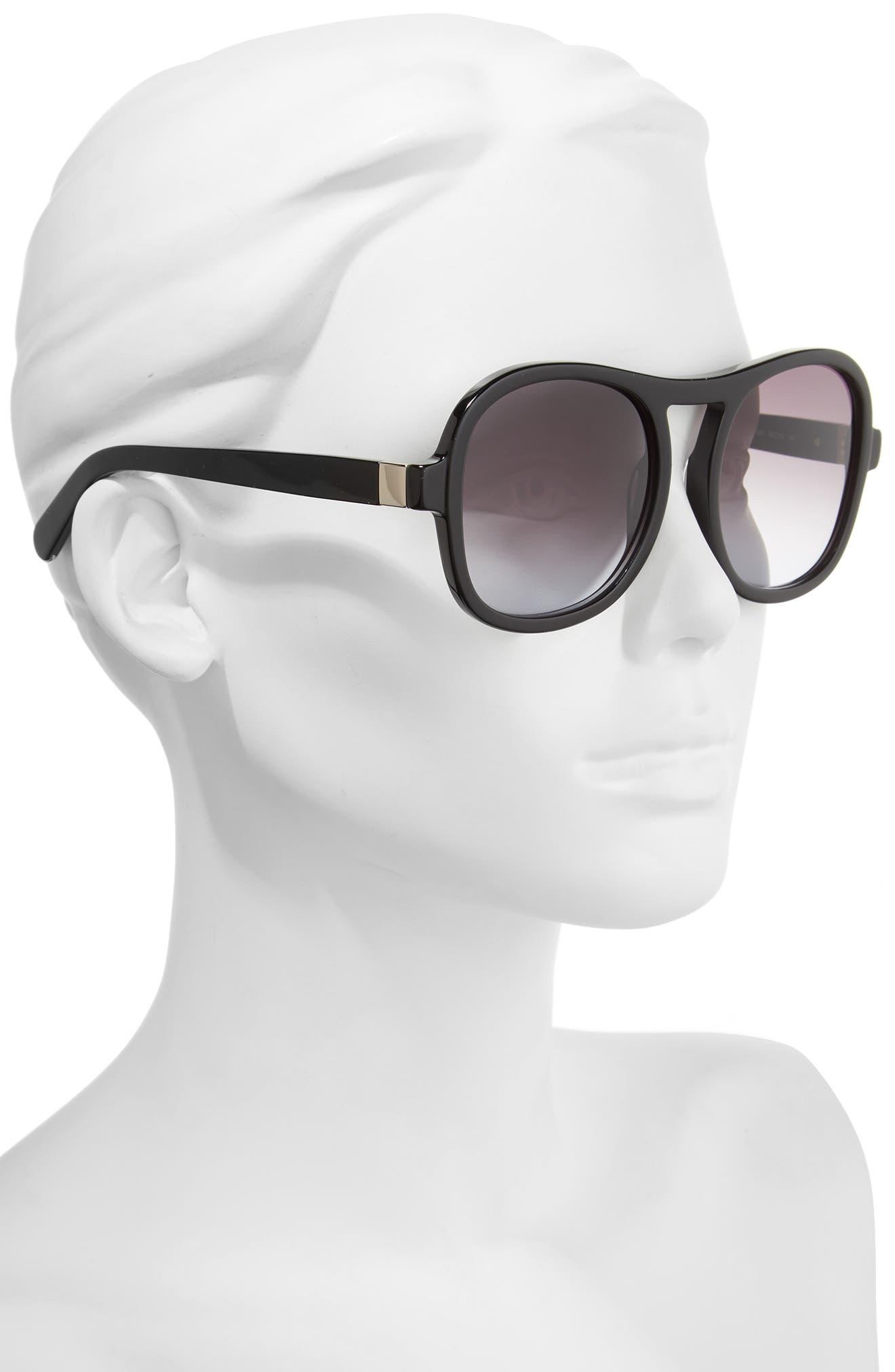 Marlow 56mm Gradient Lens Sunglasses,                             Alternate thumbnail 5, color,