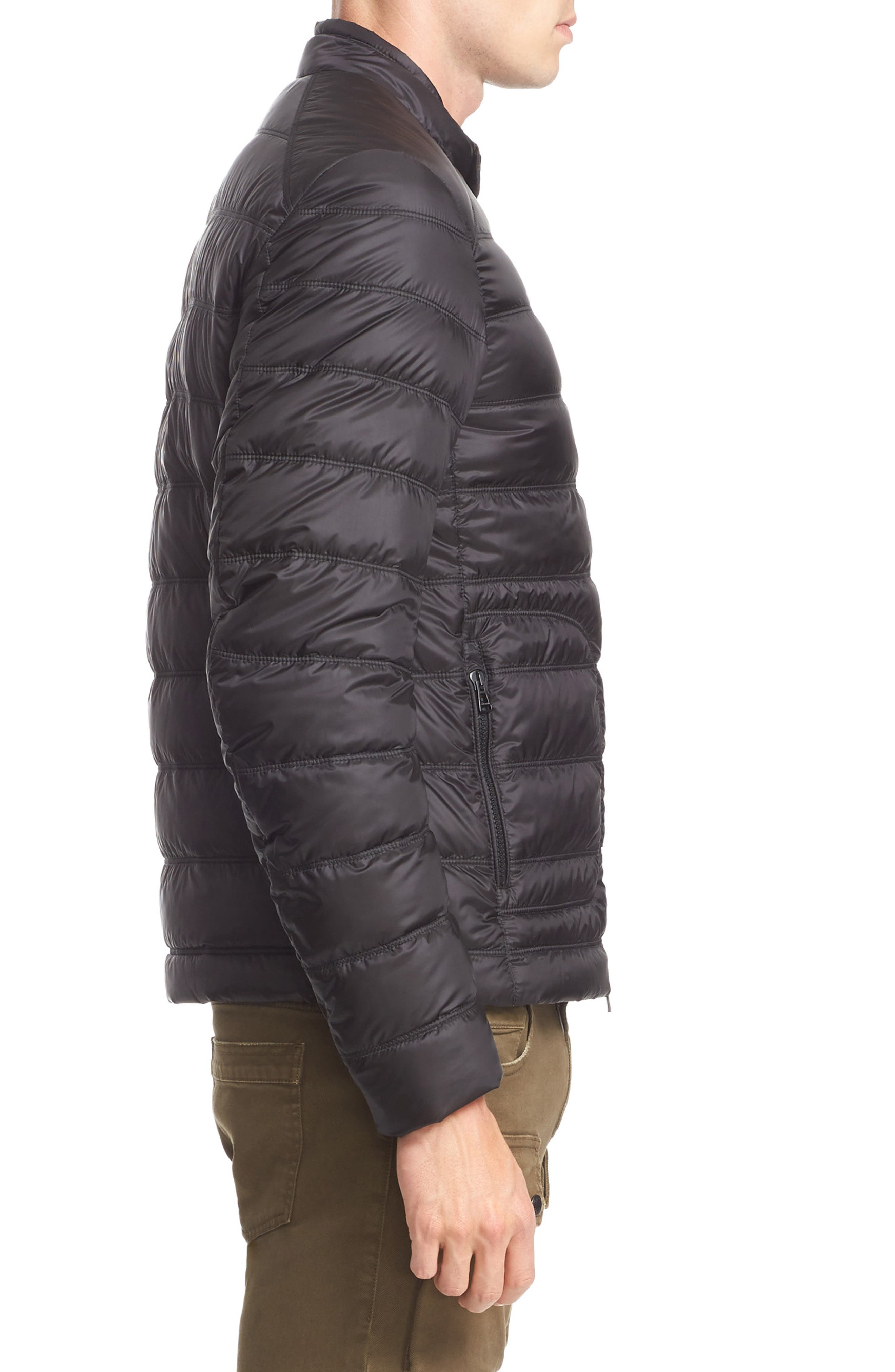 Halewood Quilted Down Jacket,                             Alternate thumbnail 3, color,                             001