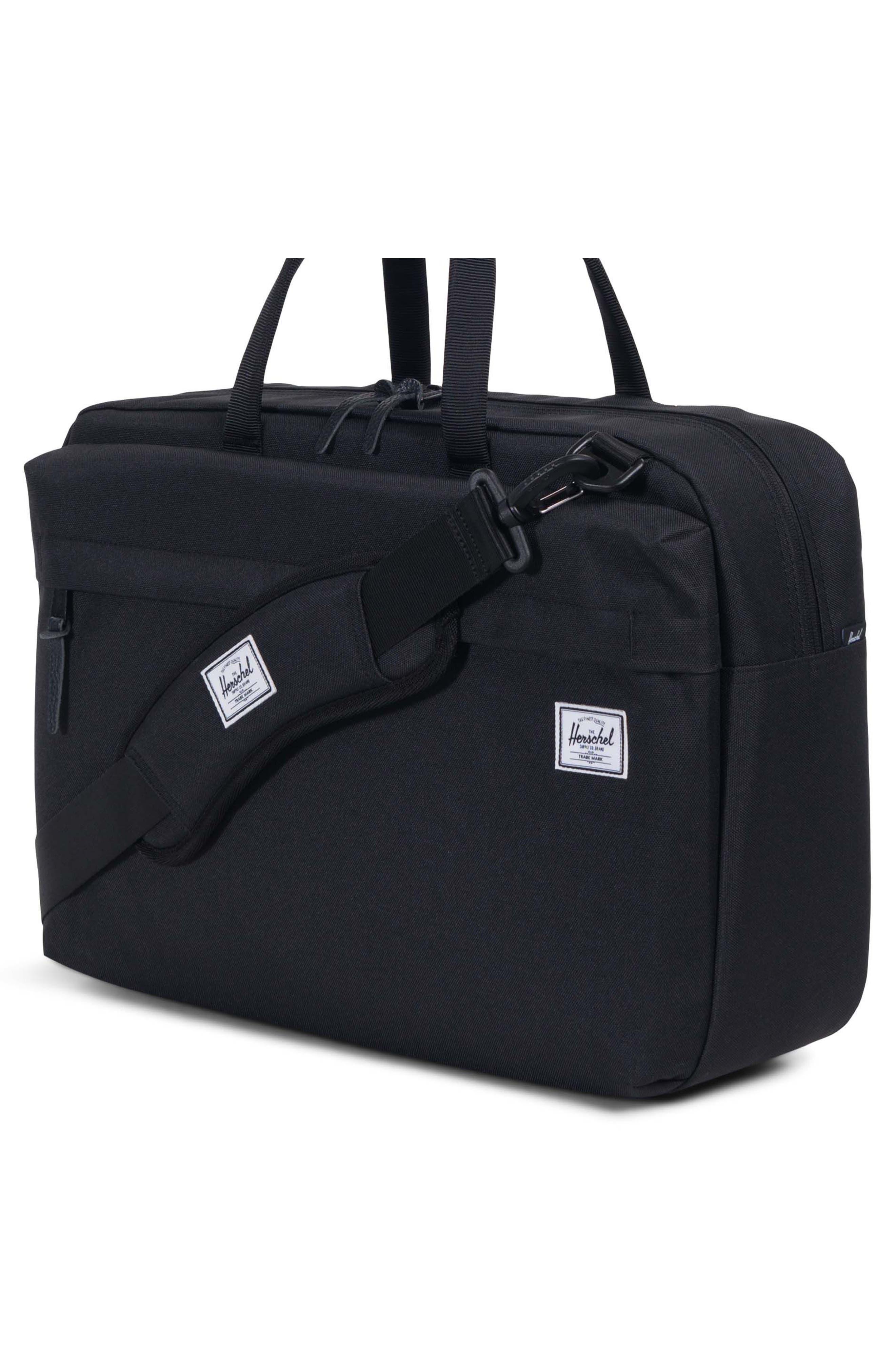 Sandford Messenger Bag,                             Alternate thumbnail 4, color,                             BLACK