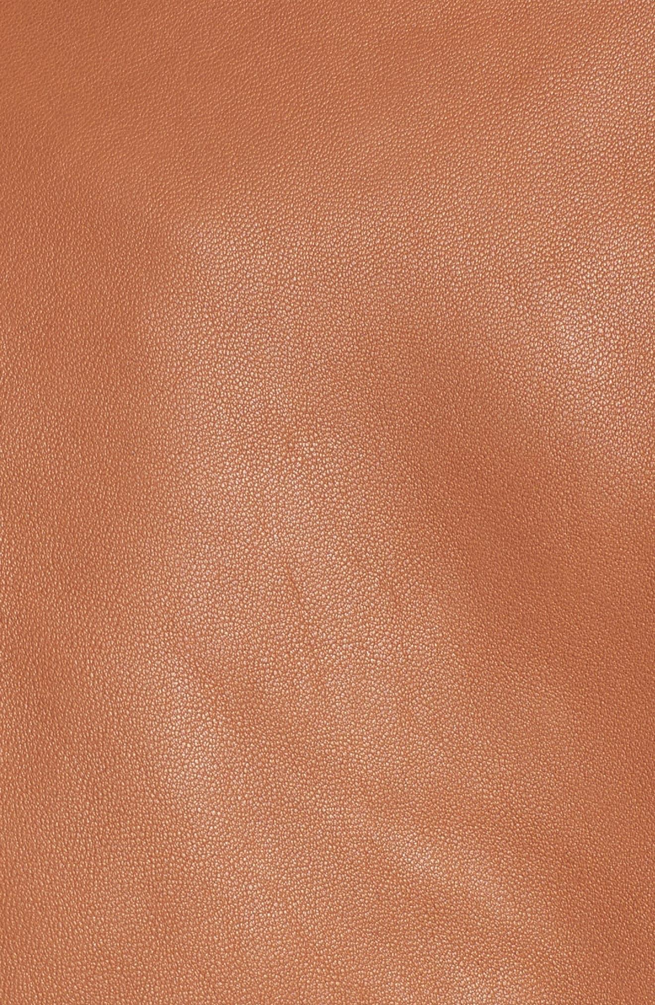 Leather Jacket,                             Alternate thumbnail 12, color,