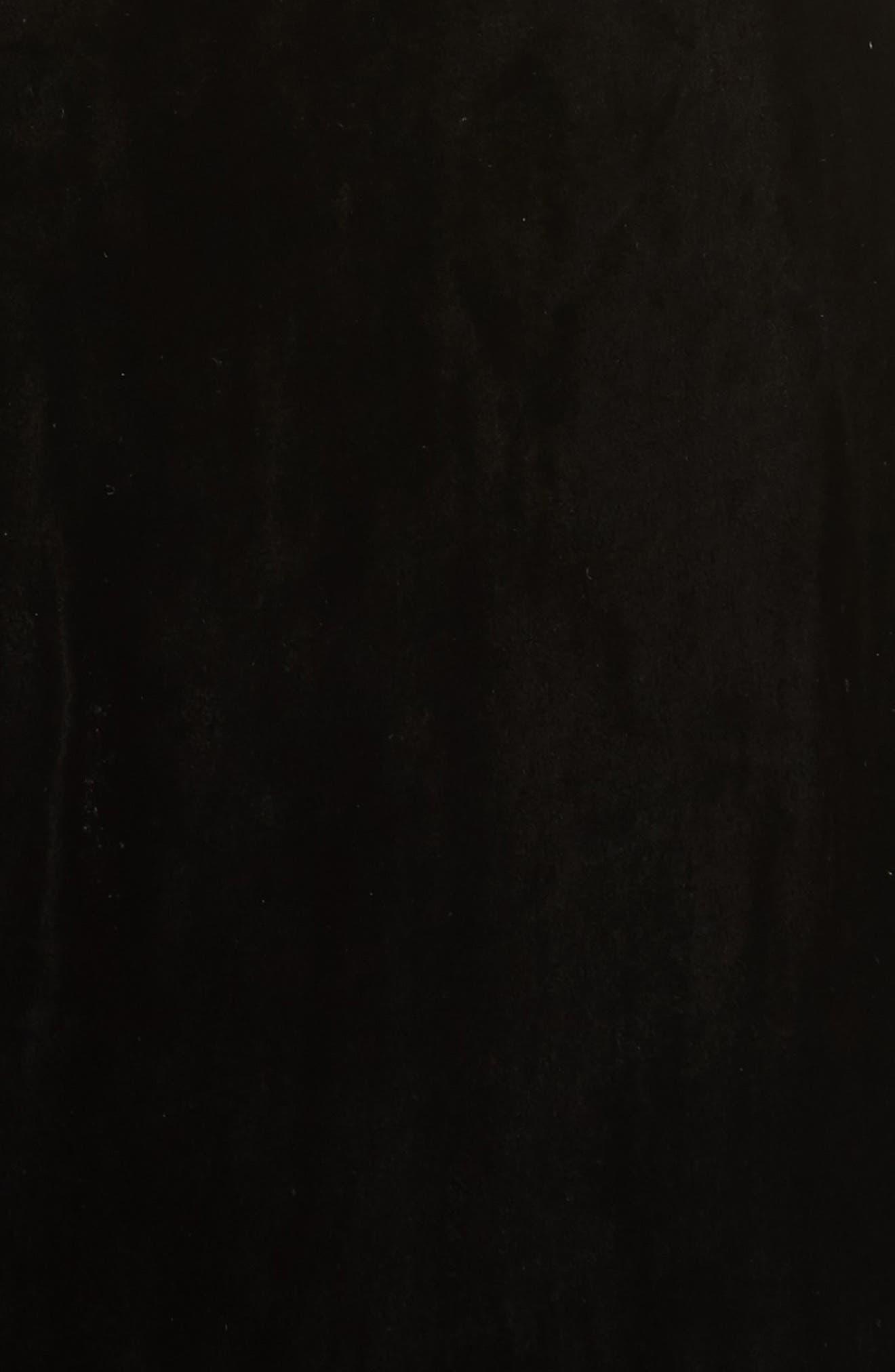 Simmons Velvet Wrap Maxi Dress,                             Alternate thumbnail 5, color,                             001