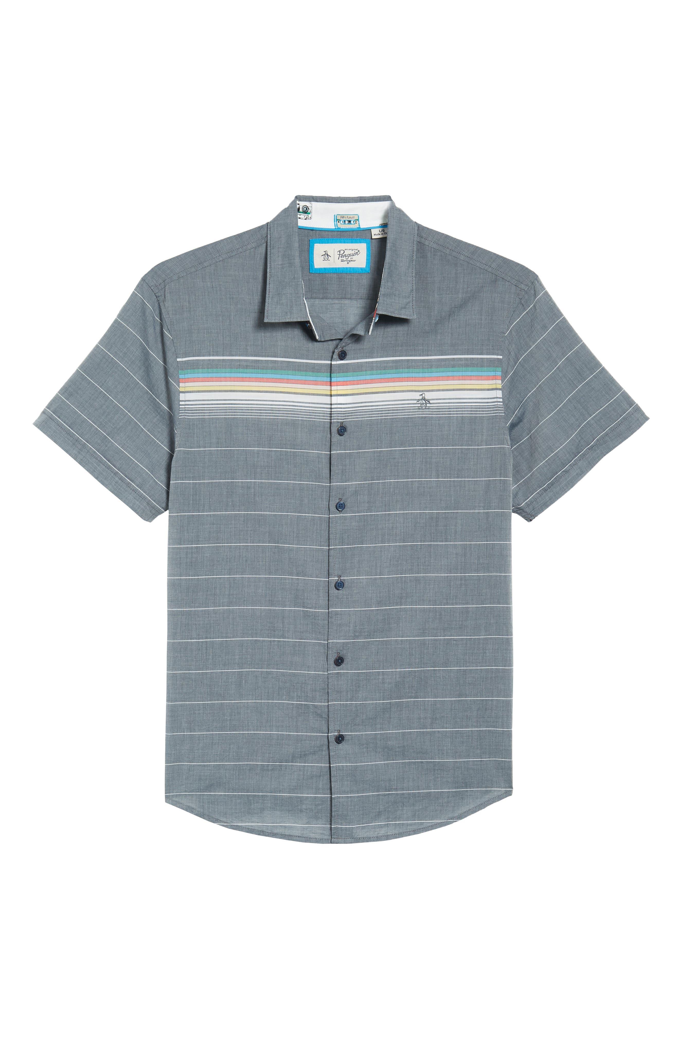 Engineered Stripe Woven Shirt,                             Alternate thumbnail 6, color,                             413