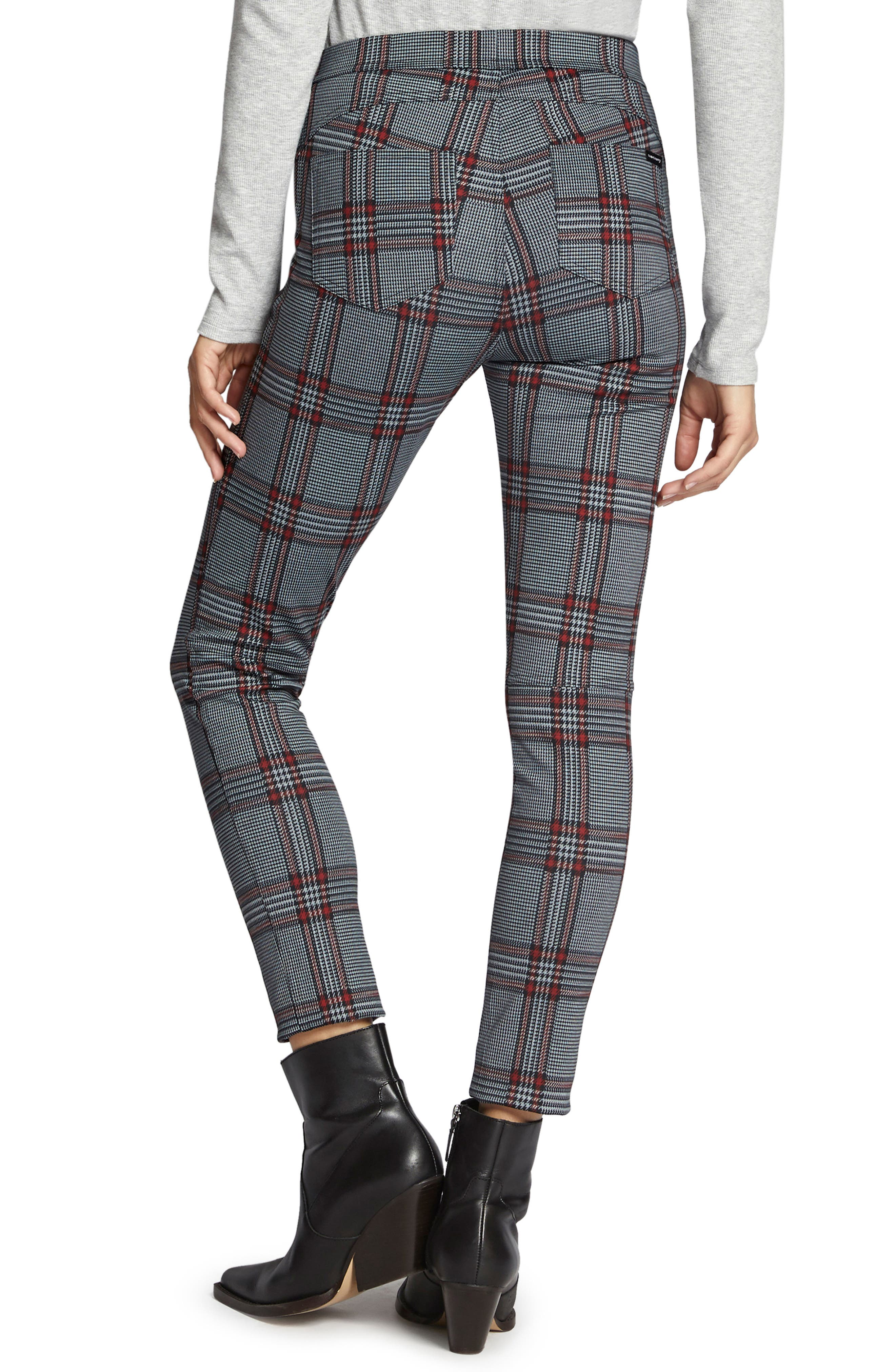 SANCTUARY,                             Grease Plaid Leggings,                             Alternate thumbnail 2, color,                             020