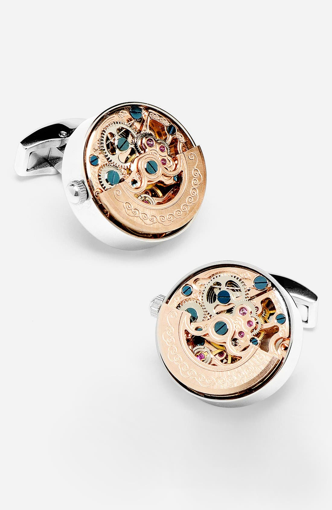 'Kinetic Watch' Cuff Links,                             Main thumbnail 2, color,