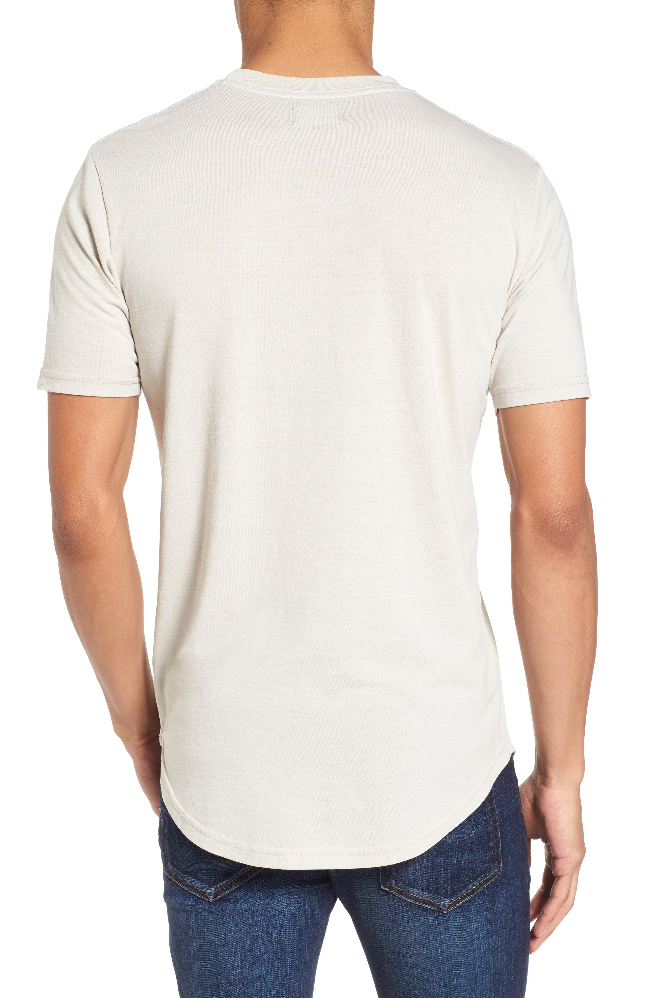 Scallop Triblend Crewneck T-Shirt,                             Alternate thumbnail 2, color,                             020