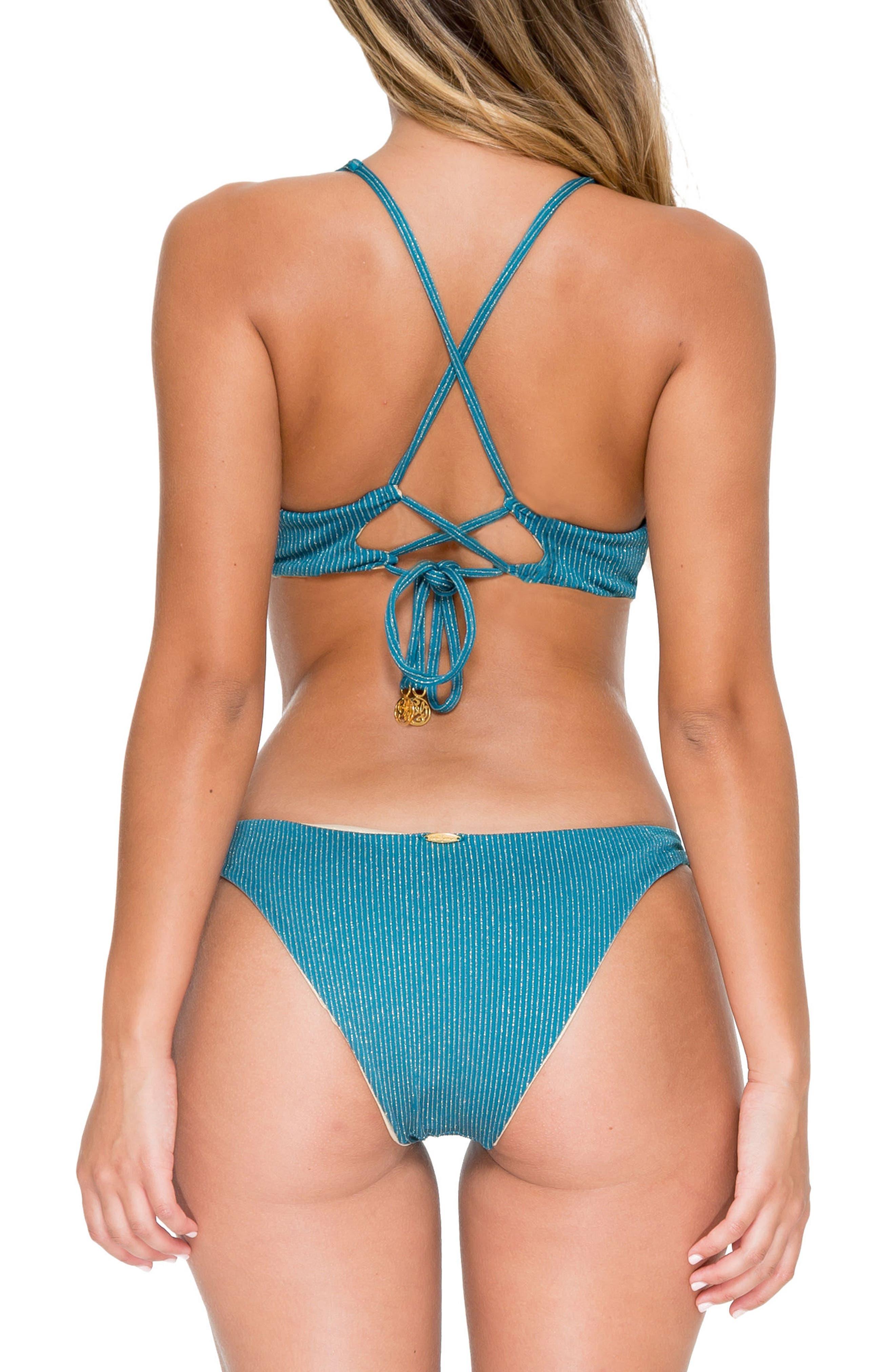 Esmeralda Reversible Bikini Top,                             Alternate thumbnail 6, color,                             492
