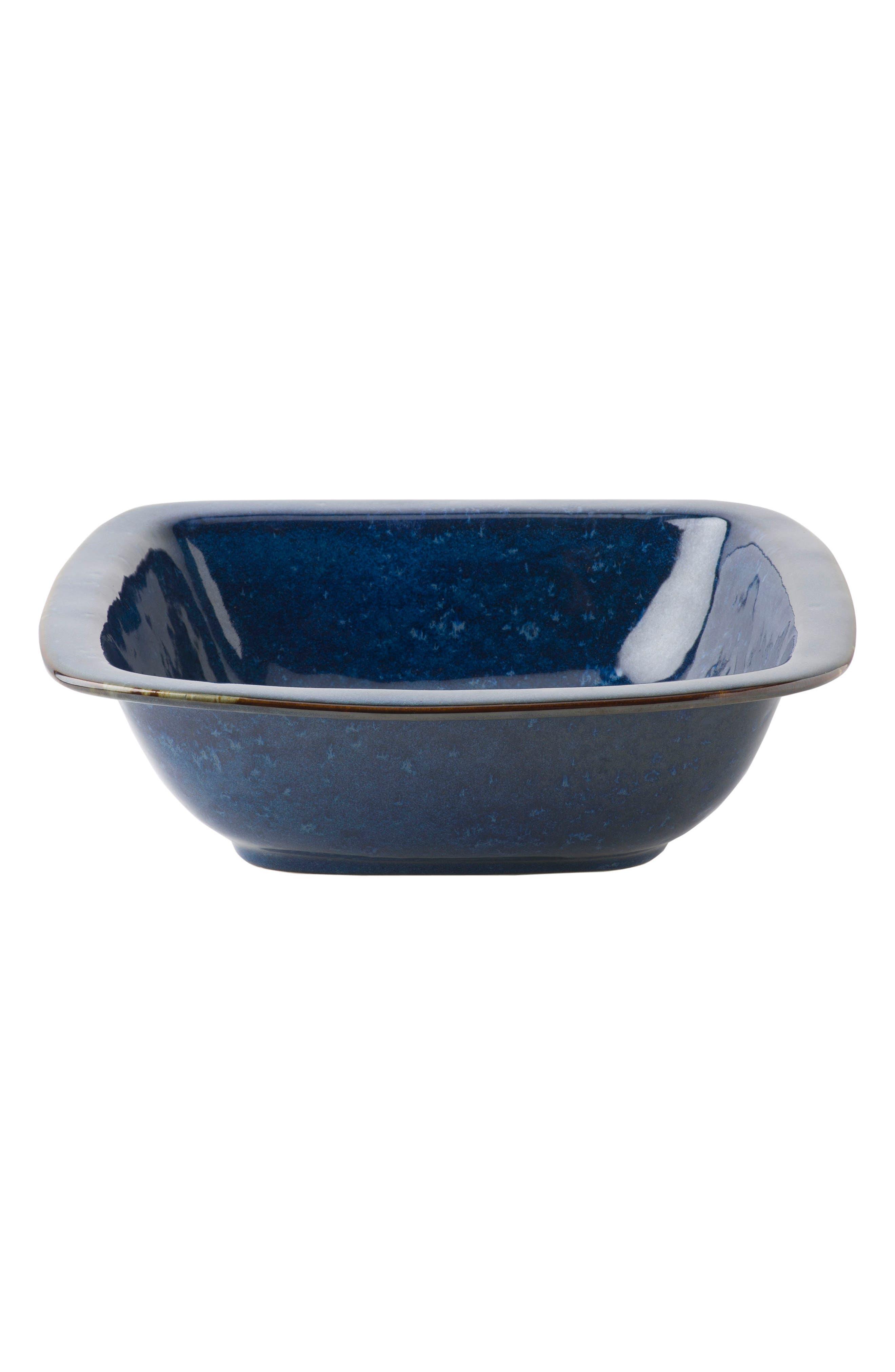 Puro Ceramic Serving Bowl,                         Main,                         color, DAPPLED COBALT