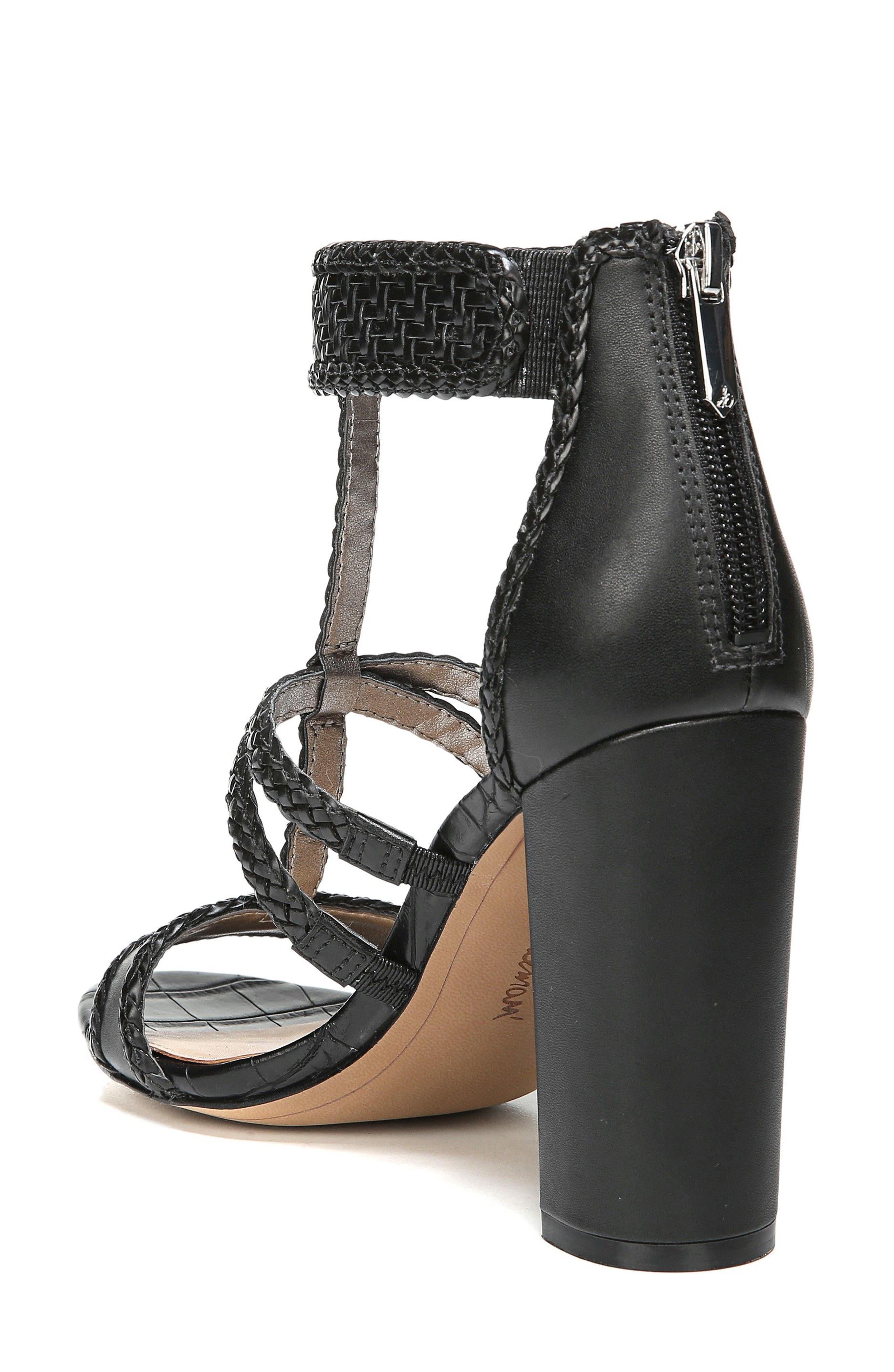 Yordana Woven T-Strap Sandal,                             Alternate thumbnail 2, color,                             001