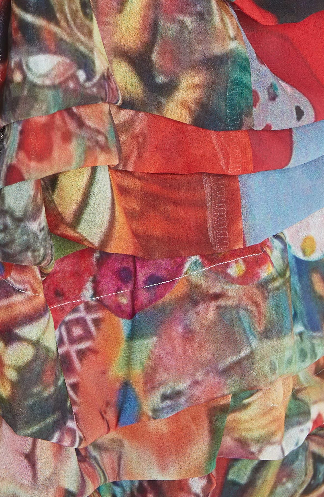 Print Tiered Skirt,                             Alternate thumbnail 5, color,