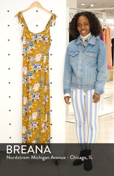 Floral Tie Strap Maxi Dress, sales video thumbnail