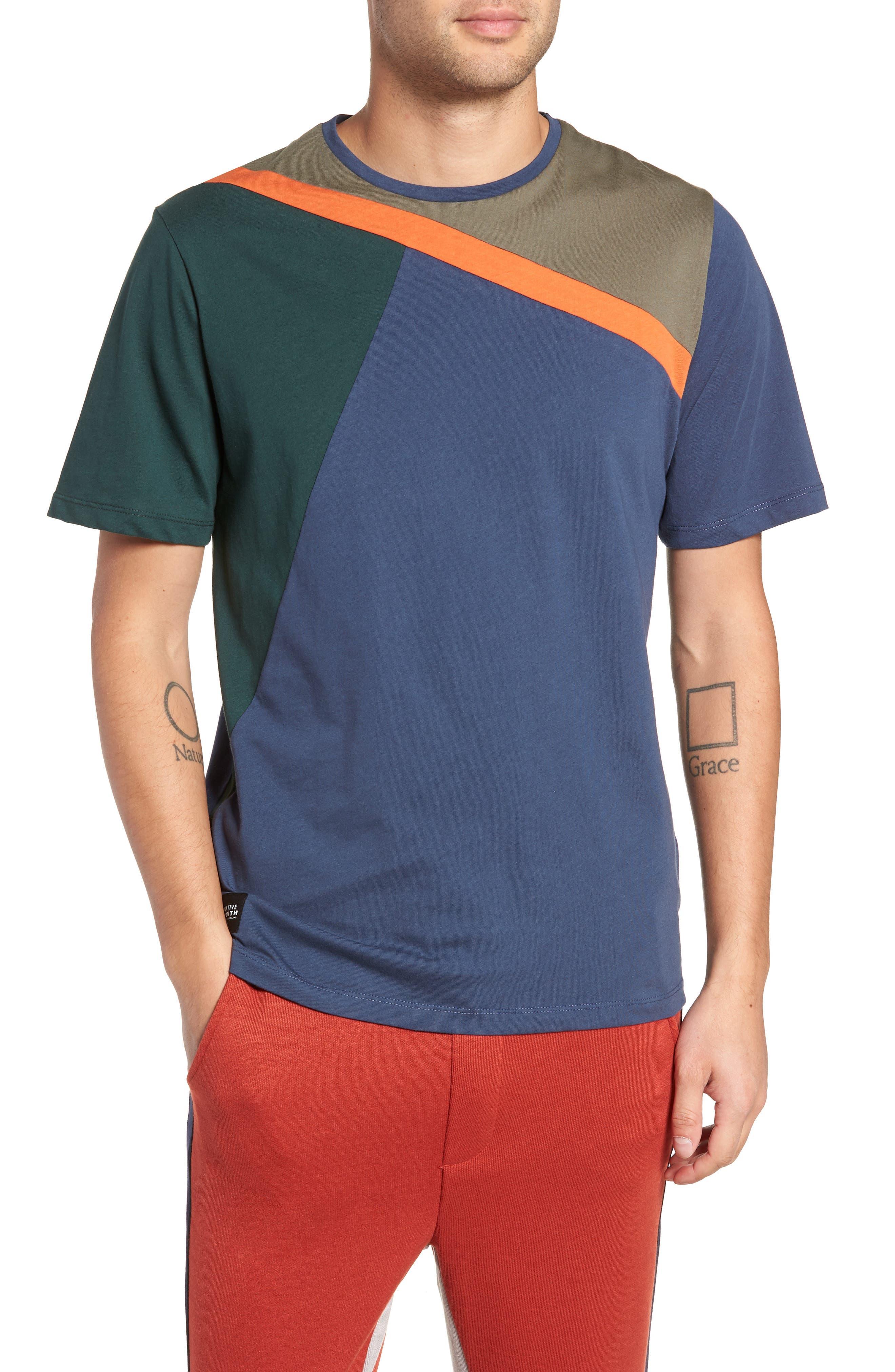 Colorblock T-Shirt,                         Main,                         color, NAVY