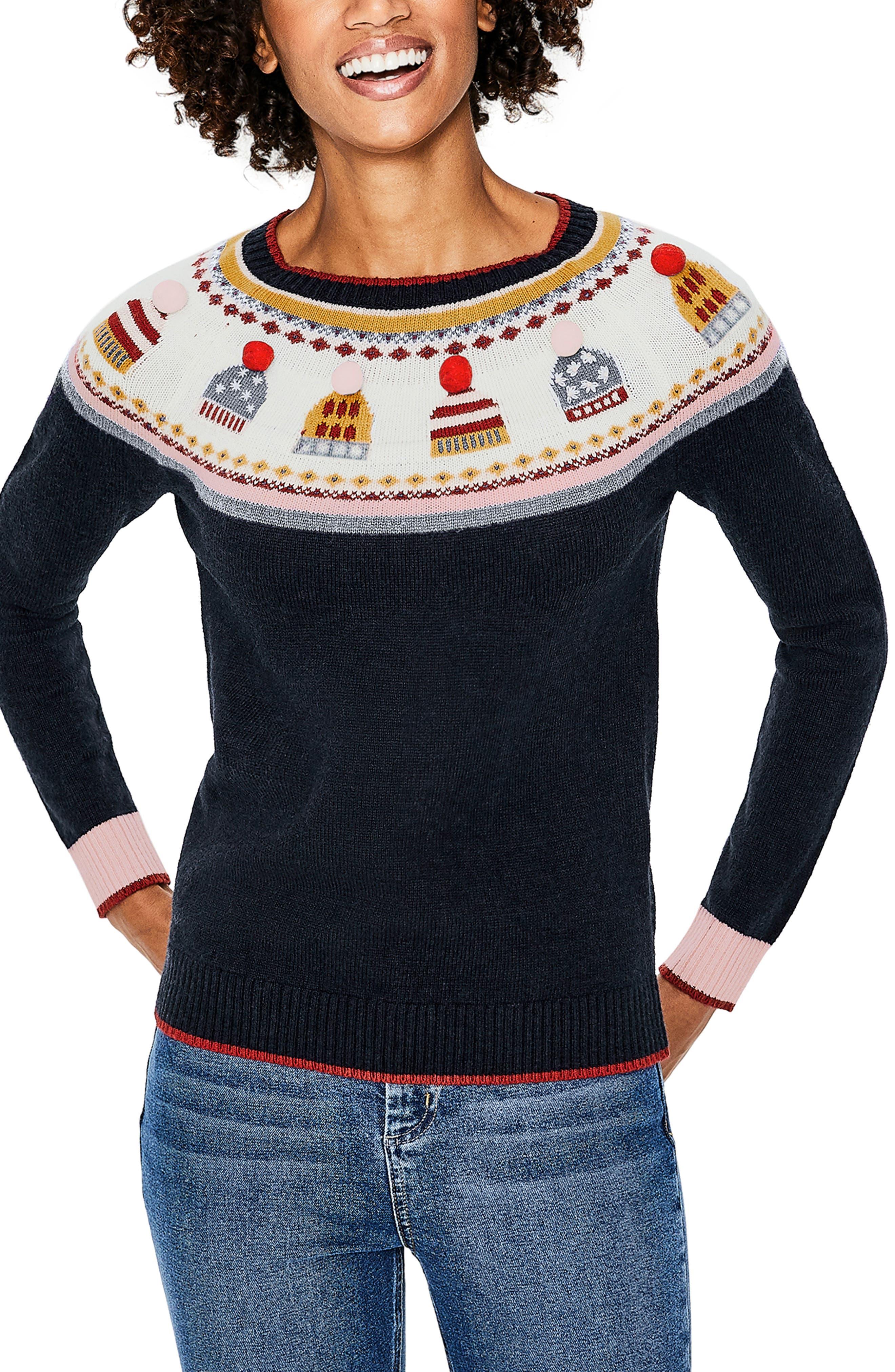 Holiday Fair Isle Sweater, Main, color, 404