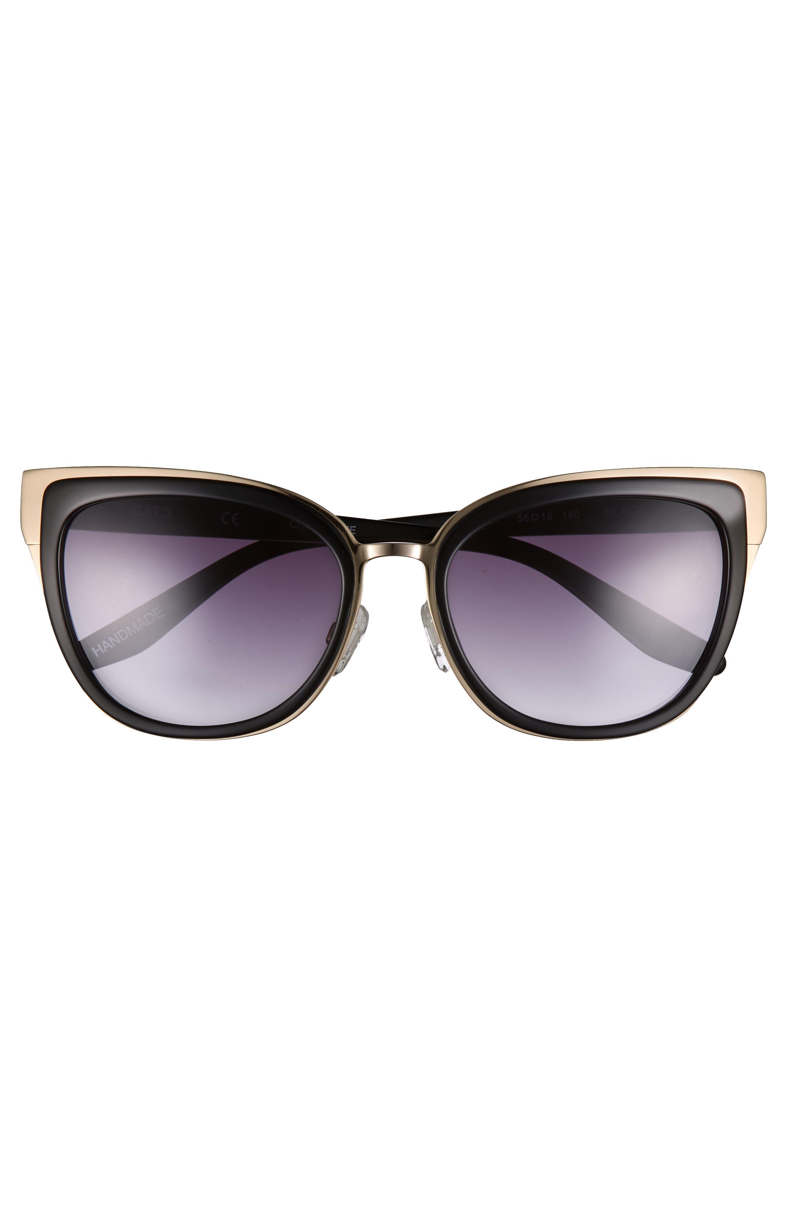 Lillian 56mm Sunglasses,                             Alternate thumbnail 3, color,                             001