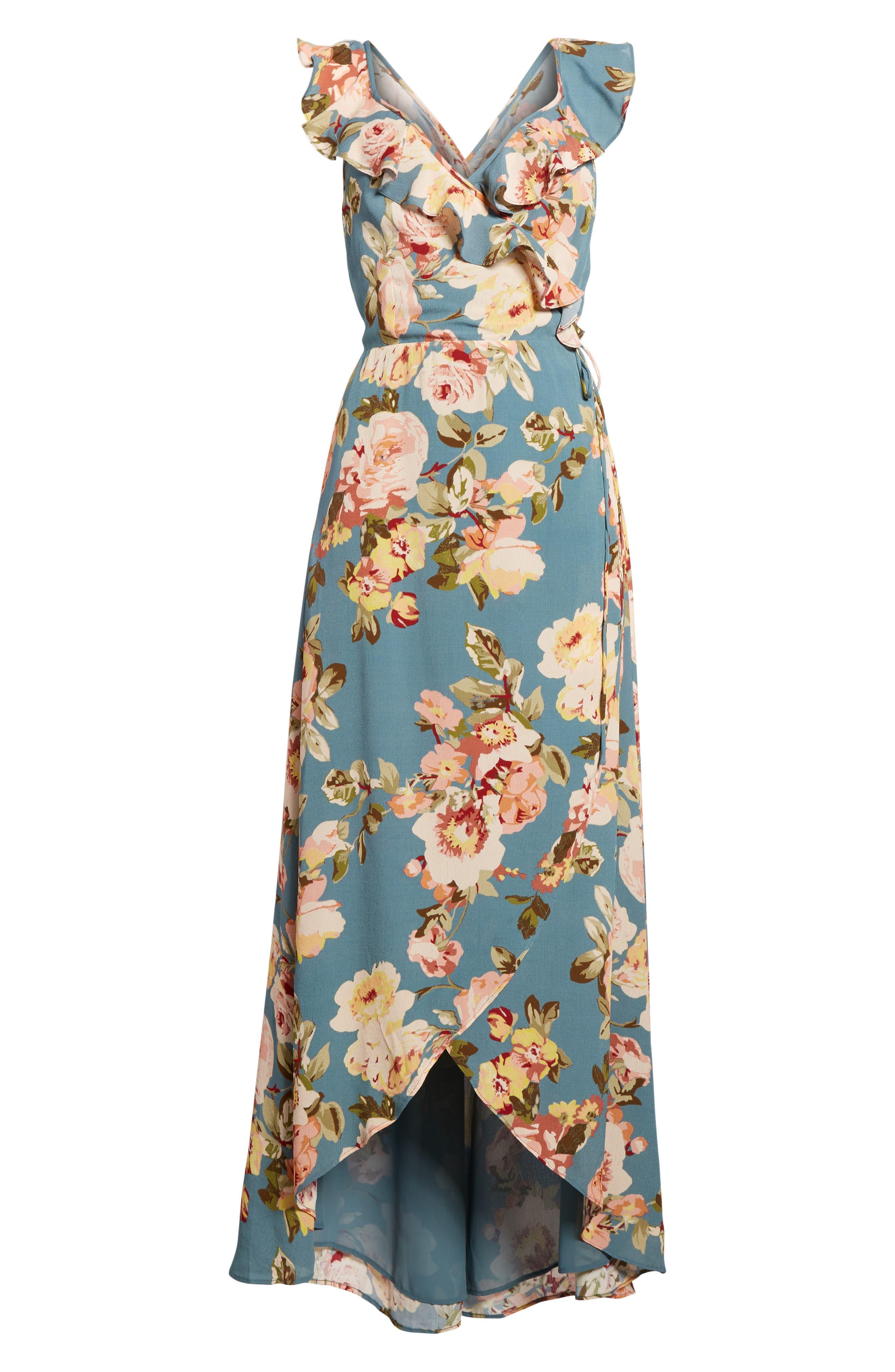 Fillmore Wrap Maxi Dress,                             Alternate thumbnail 6, color,                             300