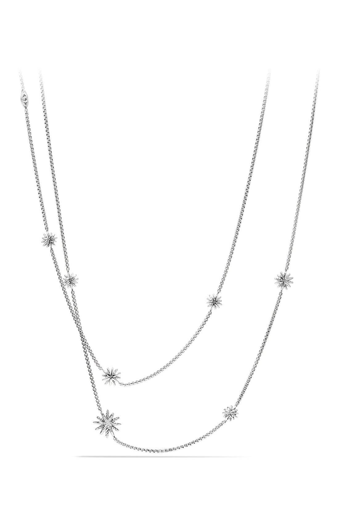 'Starburst' Station Necklace with Diamonds,                             Main thumbnail 1, color,                             DIAMOND