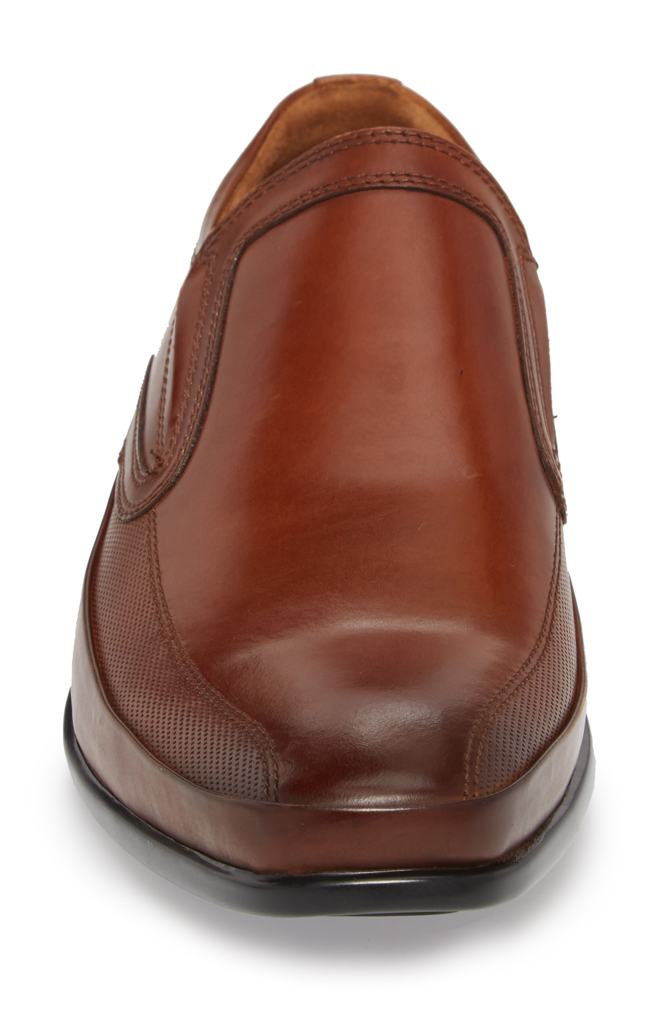 'Extra Official' Venetian Loafer,                             Alternate thumbnail 4, color,                             COGNAC LEATHER