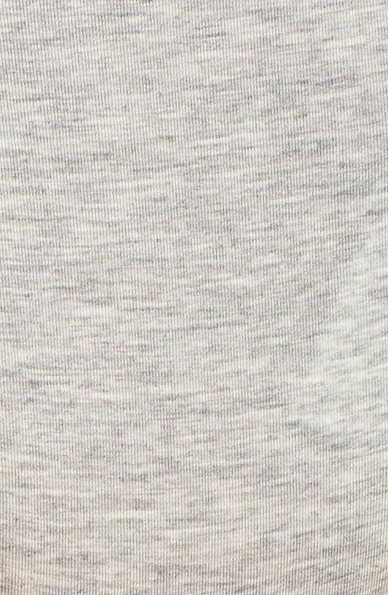 Modern Cotton-Blend Thong,                             Alternate thumbnail 5, color,                             GREY HEATHER