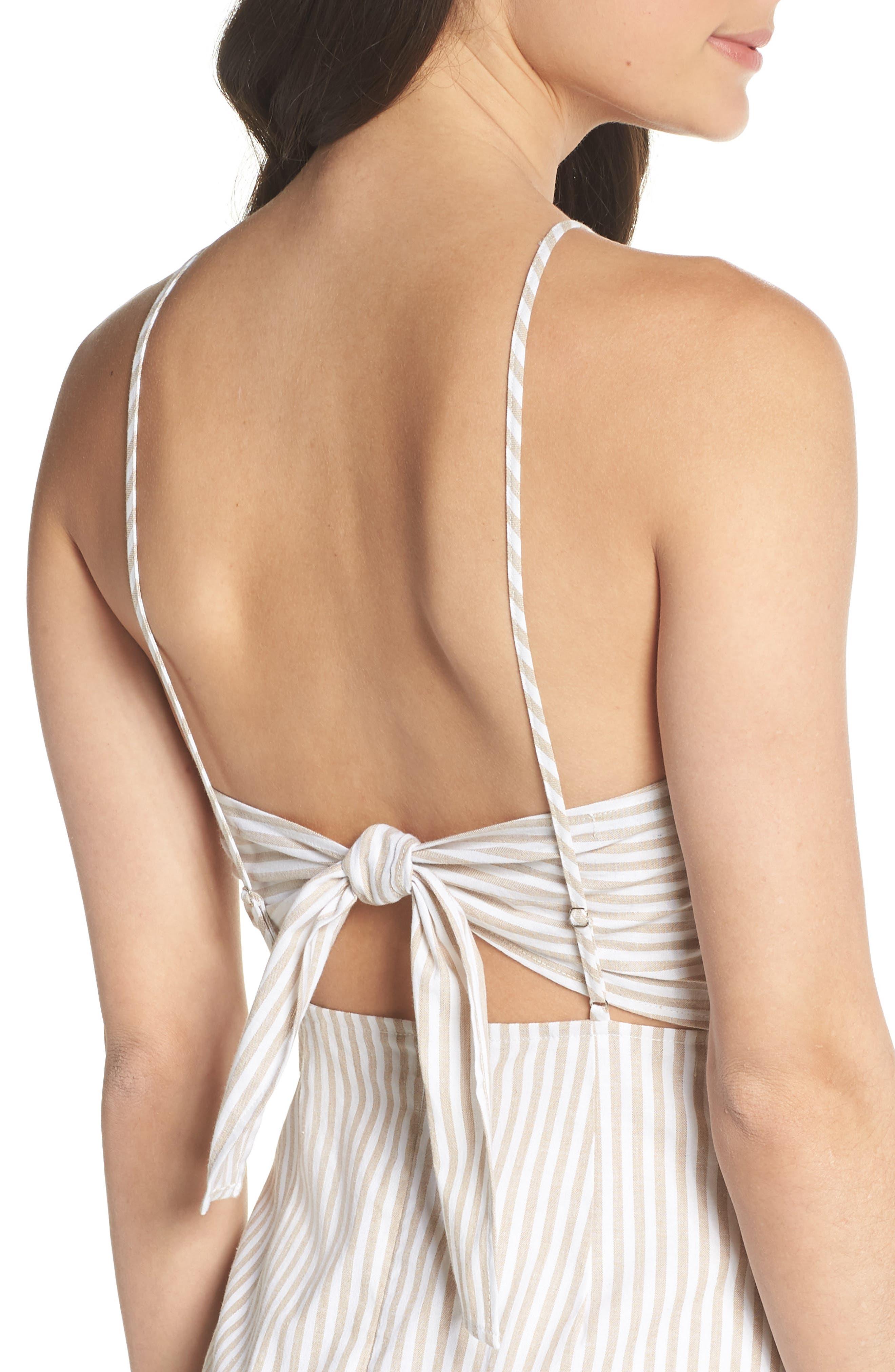 Halter Neck Midi Dress,                             Alternate thumbnail 4, color,                             250