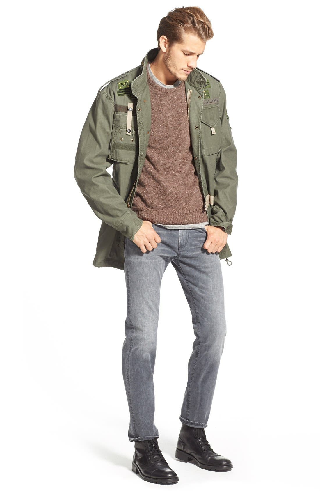 'Core' Slim Straight Leg Jeans,                             Alternate thumbnail 2, color,                             SHAKER HEIGHTS