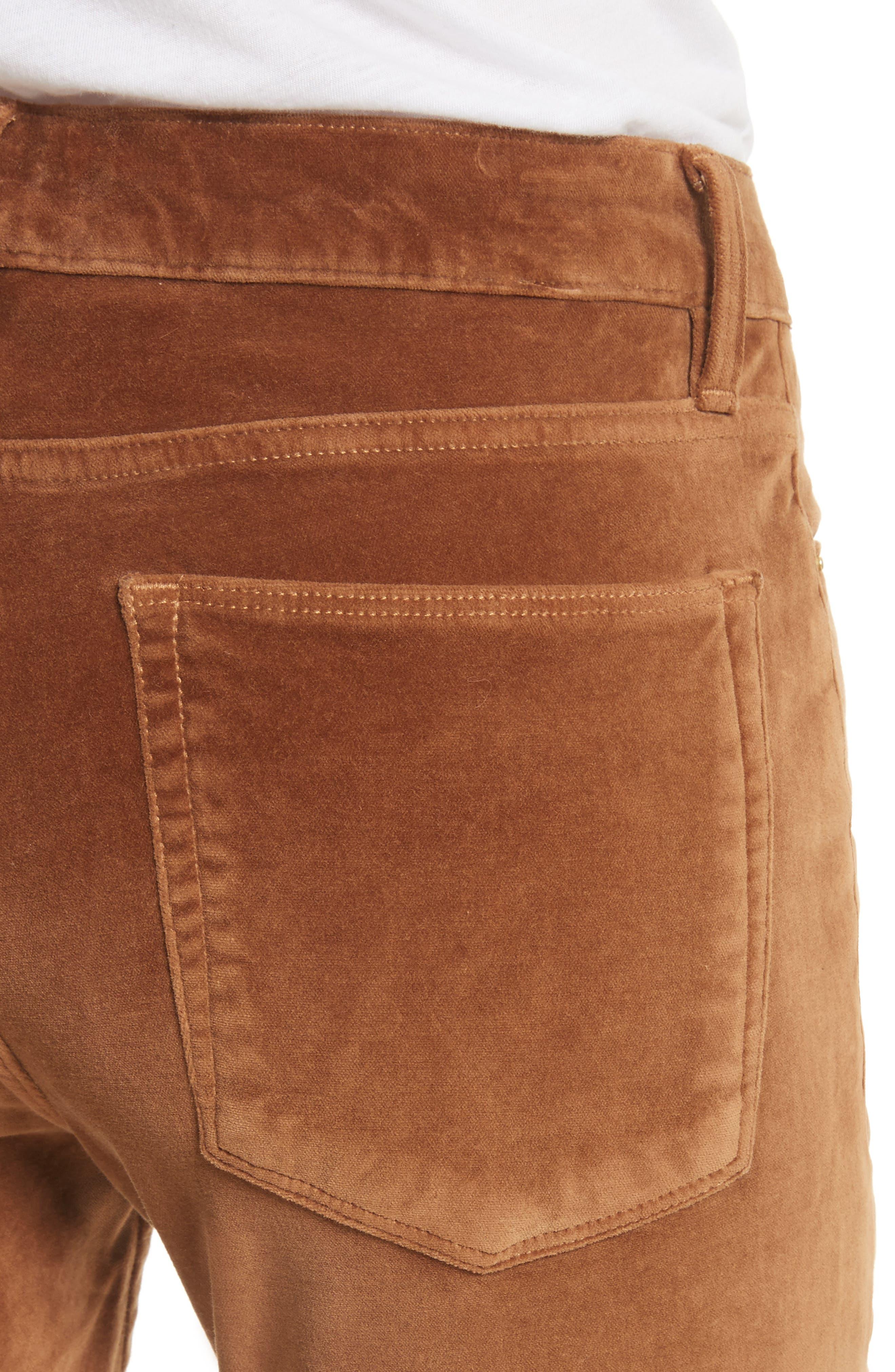 Velveteen High Waist Skinny Pants,                             Alternate thumbnail 8, color,