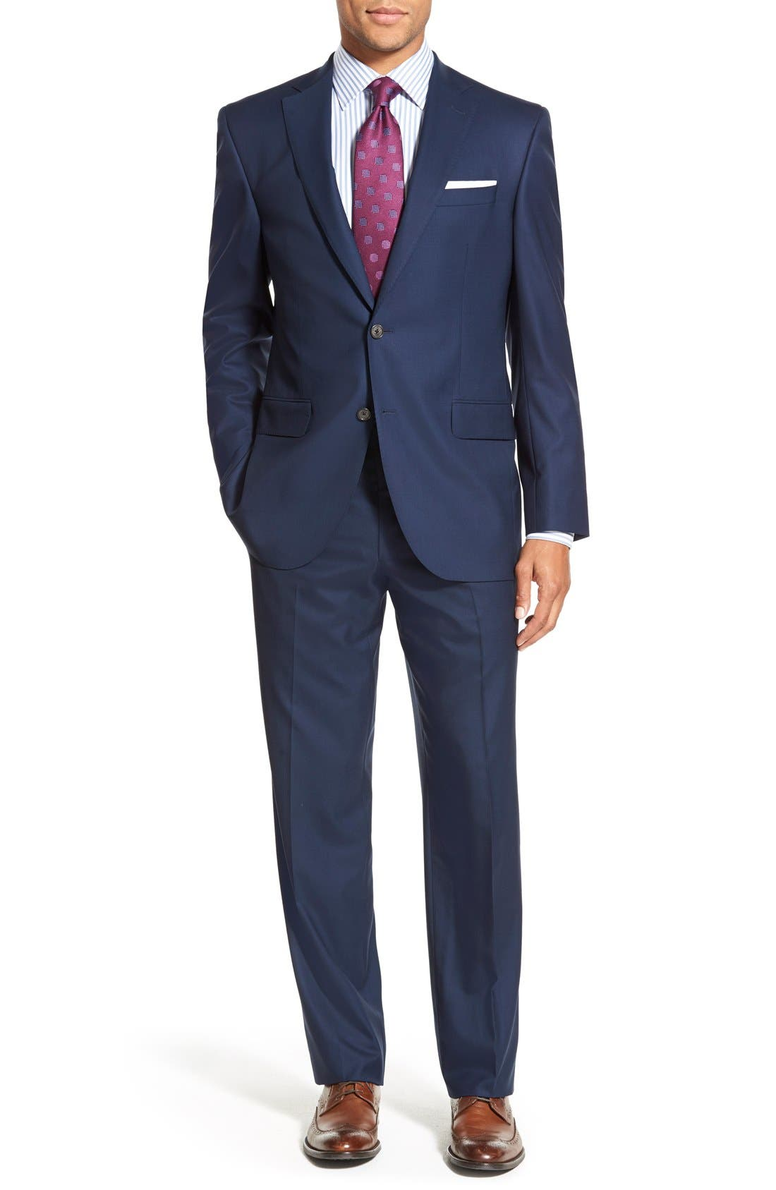 Men's David Donahue Ryan Classic Fit Solid Wool Suit