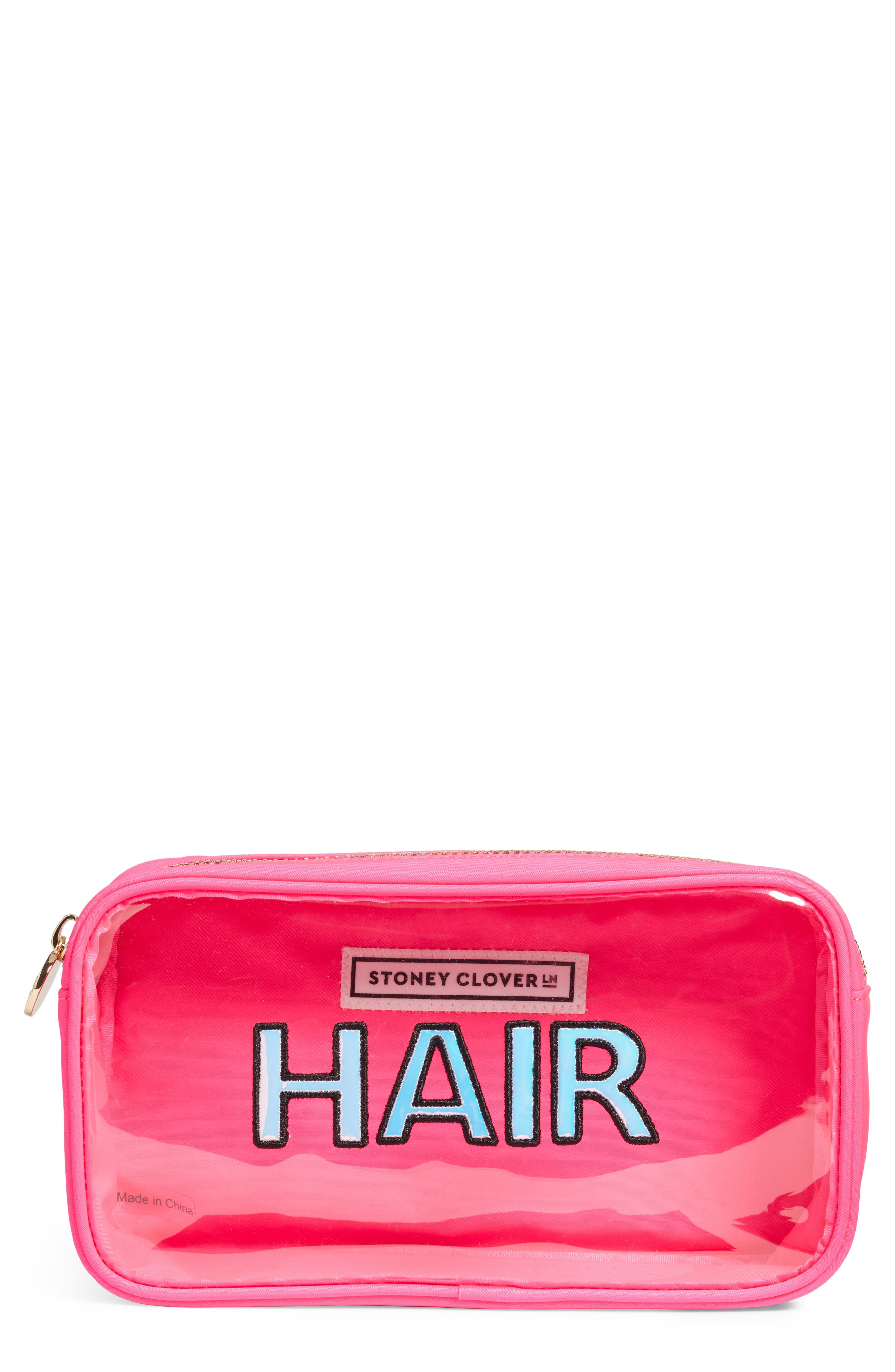 STONEY CLOVER LANE Small Pouch in Neon Pink