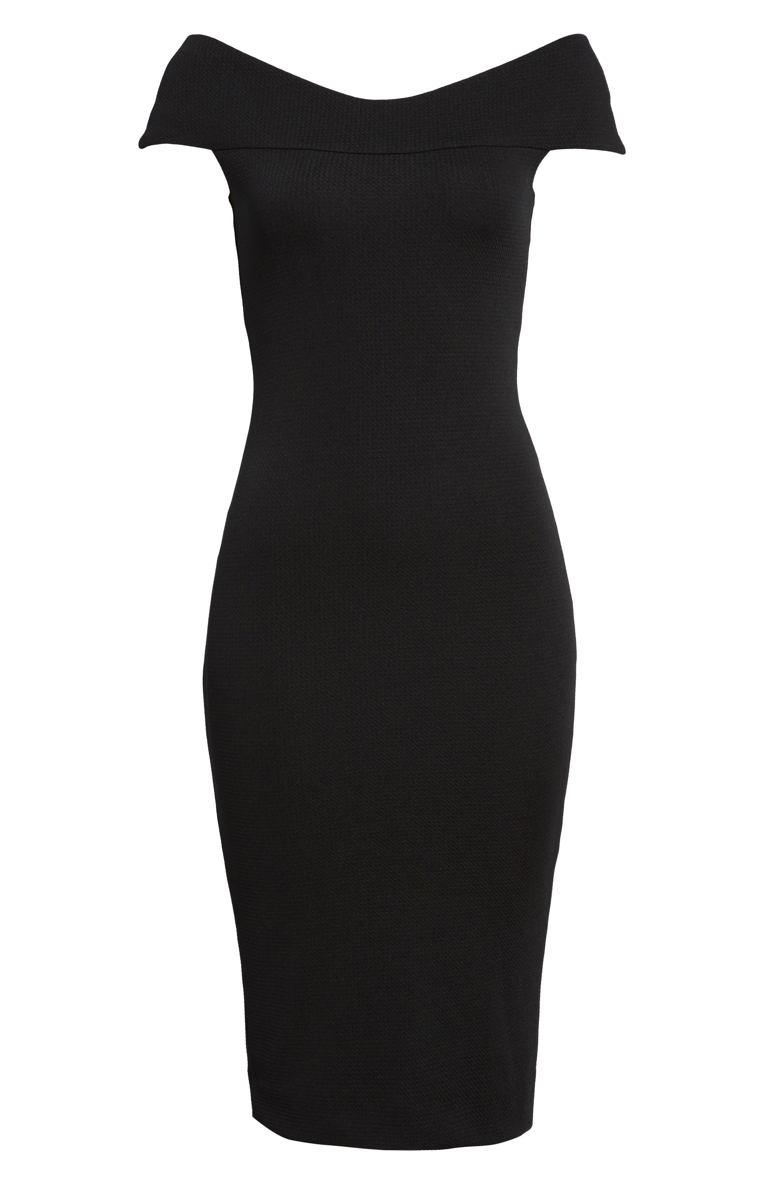 Claudette Textured Dress,                             Alternate thumbnail 5, color,                             001