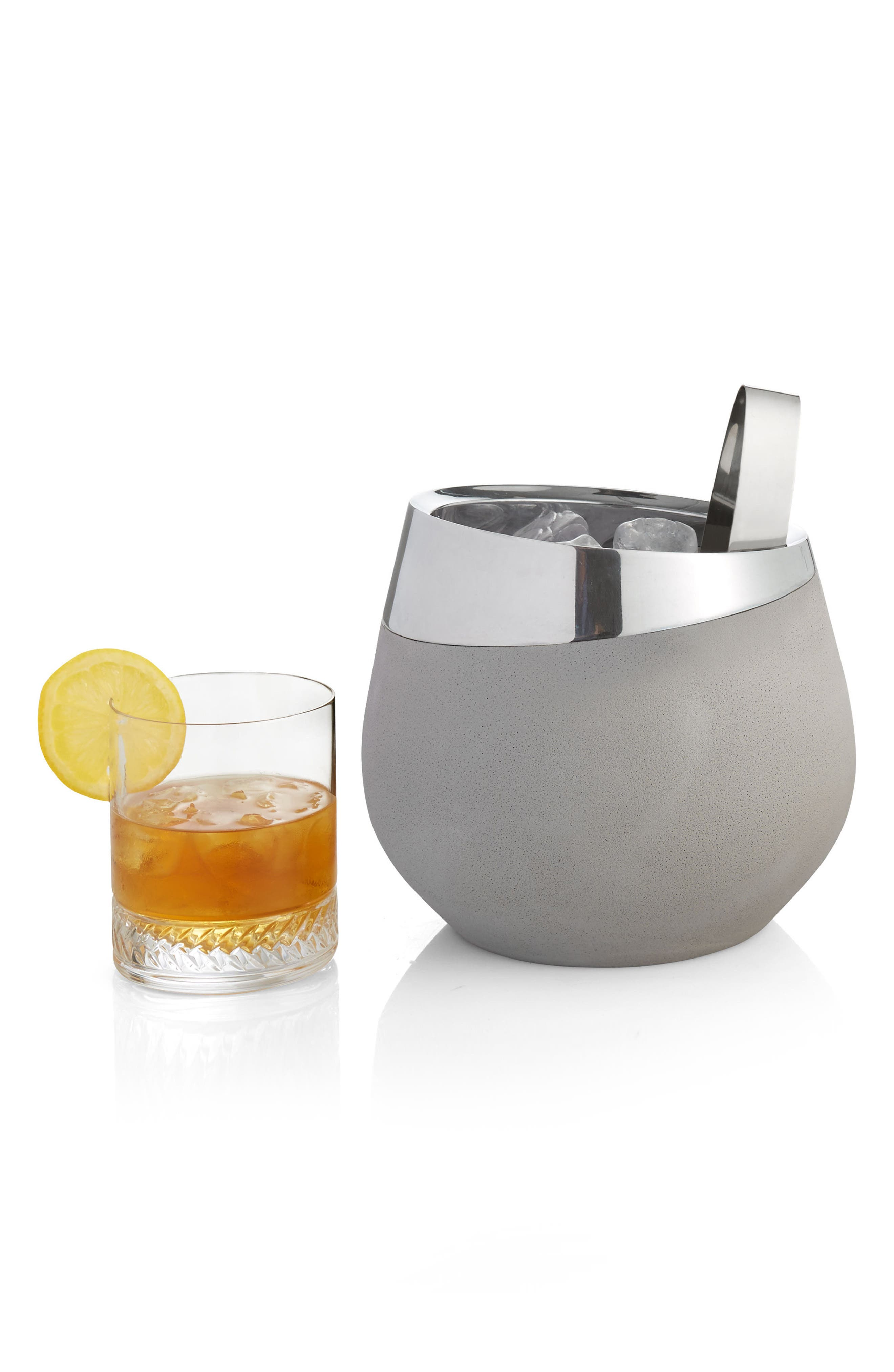 Forte Ice Bucket with Tongs,                             Alternate thumbnail 2, color,                             020