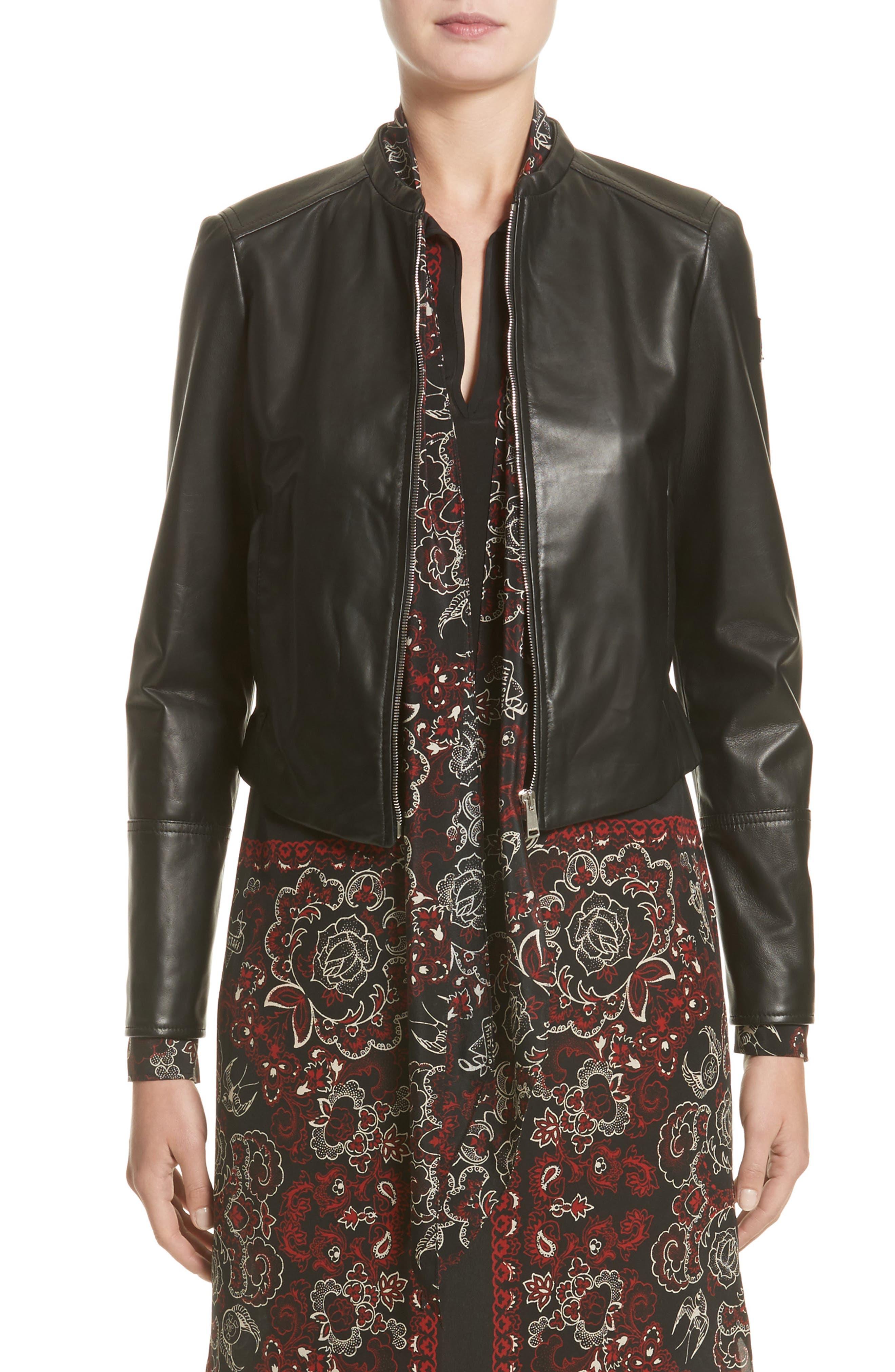 Carrack Leather Jacket,                             Main thumbnail 1, color,                             001