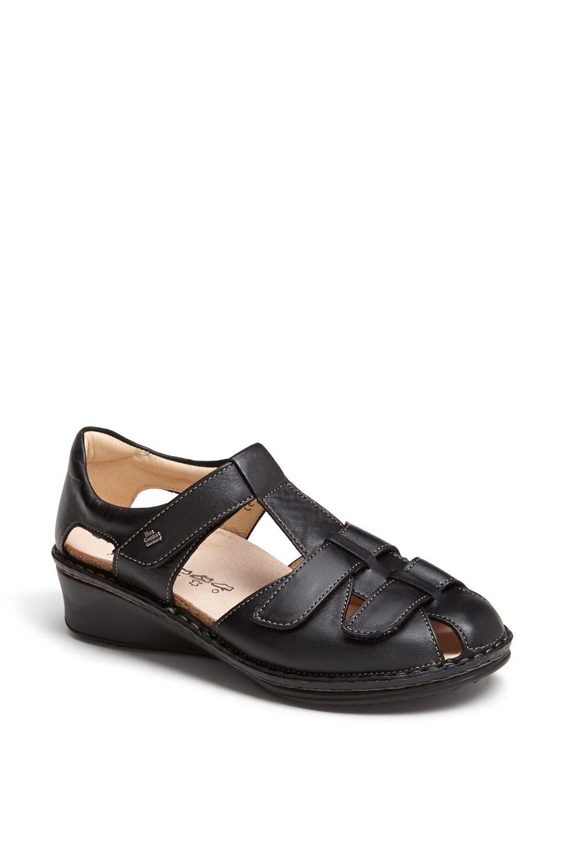'Funnen' Sandal,                             Main thumbnail 1, color,                             BLACK