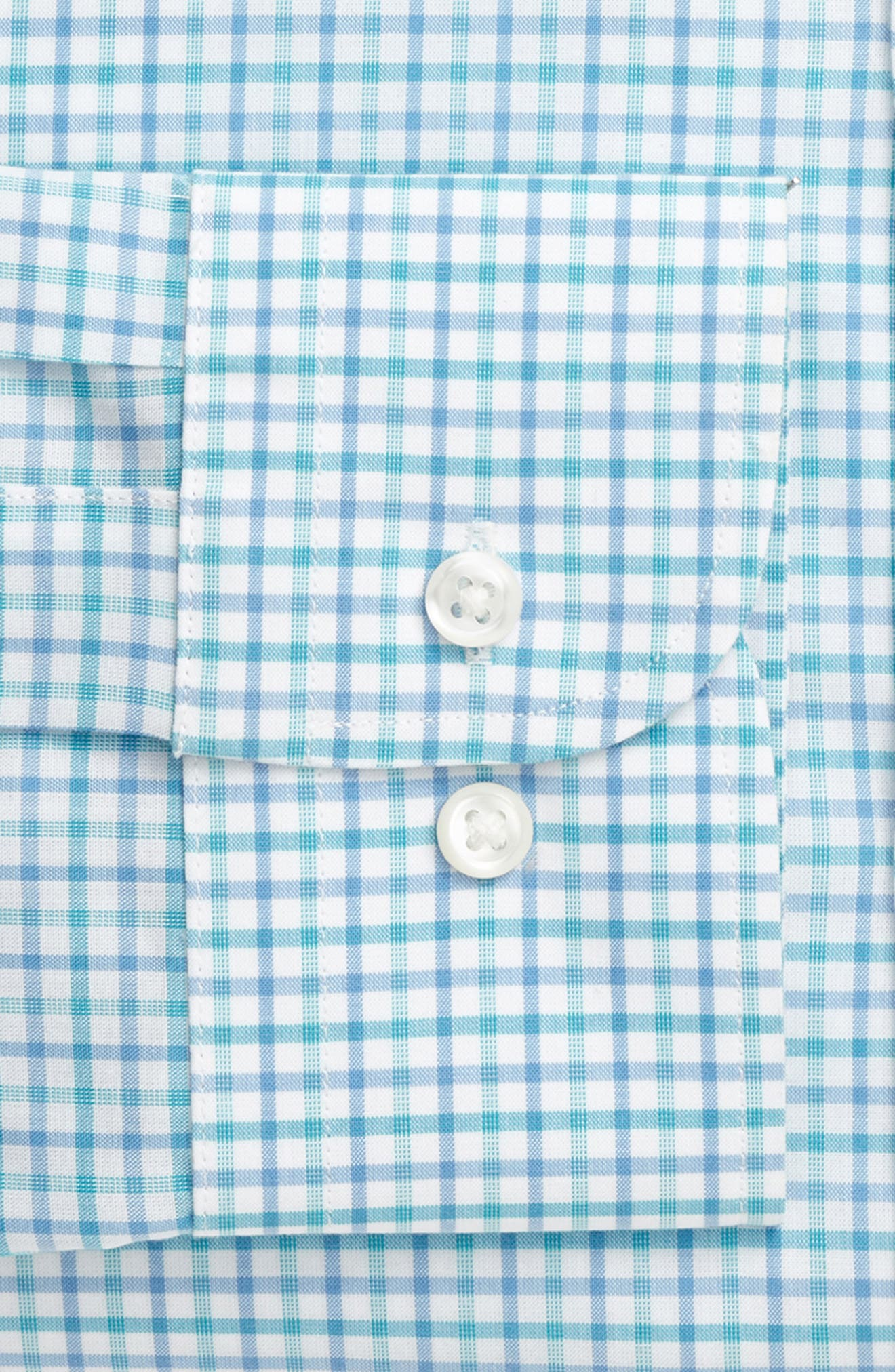 Extra Trim Fit Check Dress Shirt,                             Alternate thumbnail 6, color,                             440