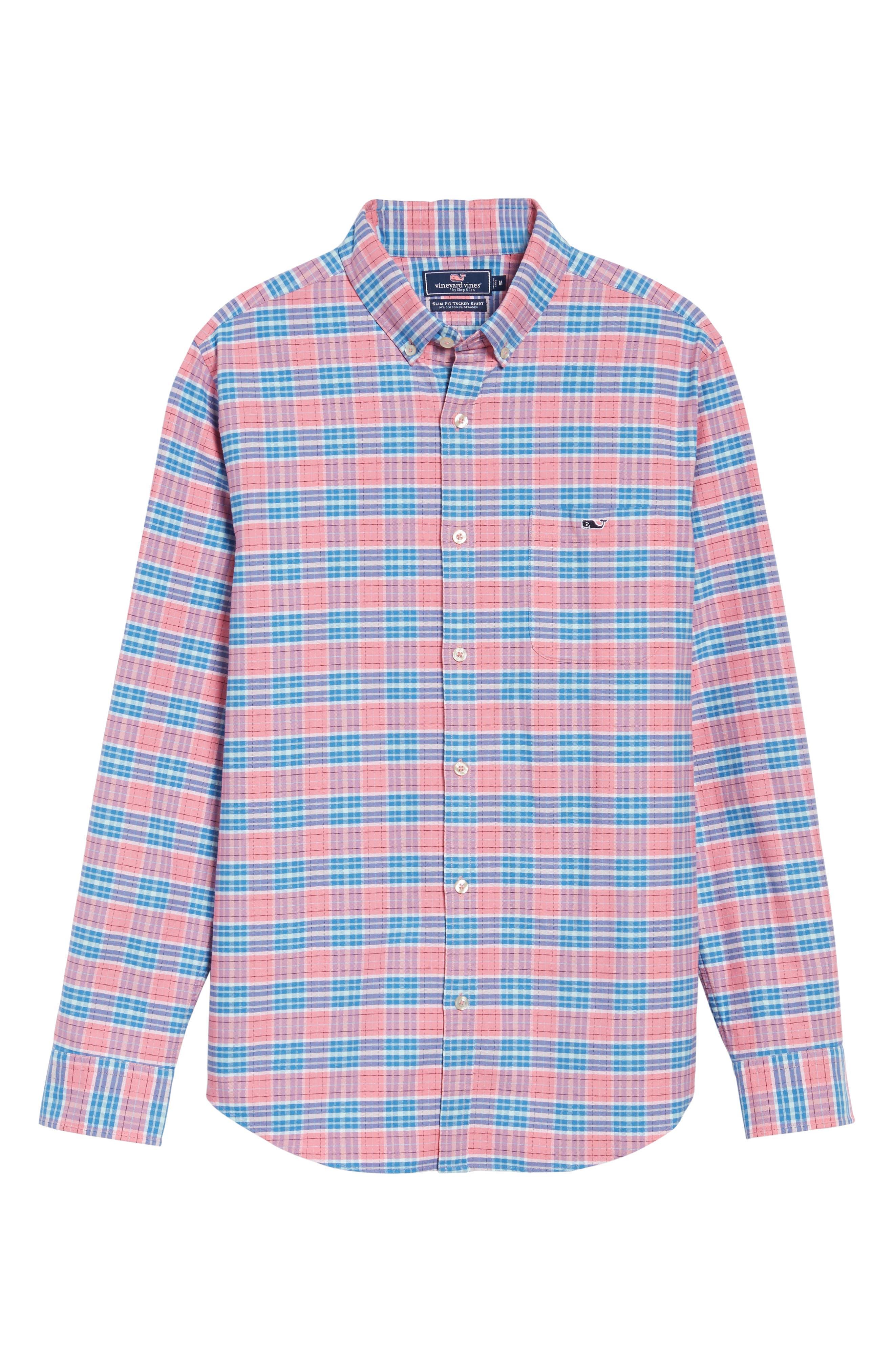 Island Reach Slim Fit Tucker Sport Shirt,                             Alternate thumbnail 6, color,