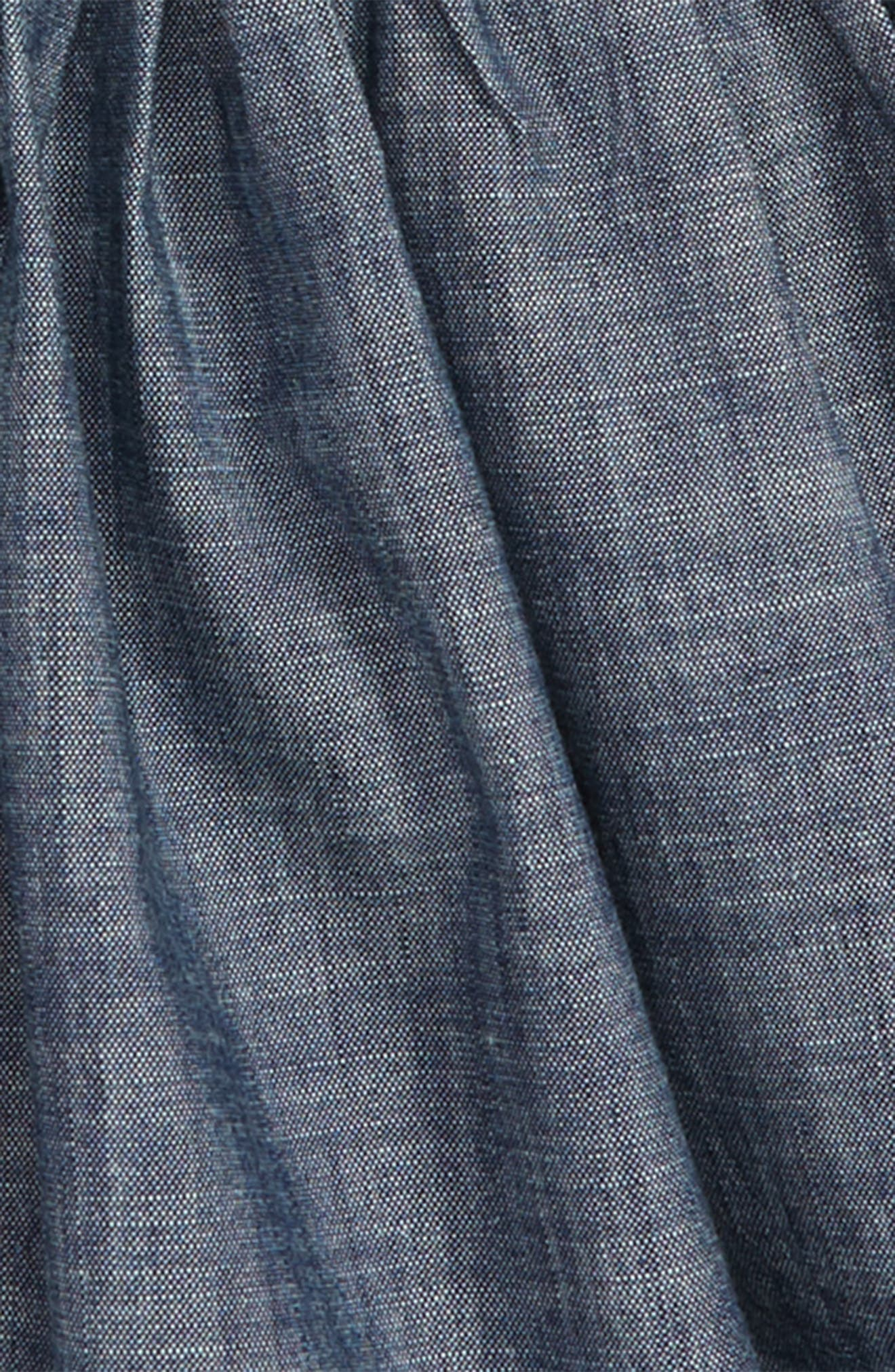 Chambray Button Front Skirt,                             Alternate thumbnail 2, color,                             400