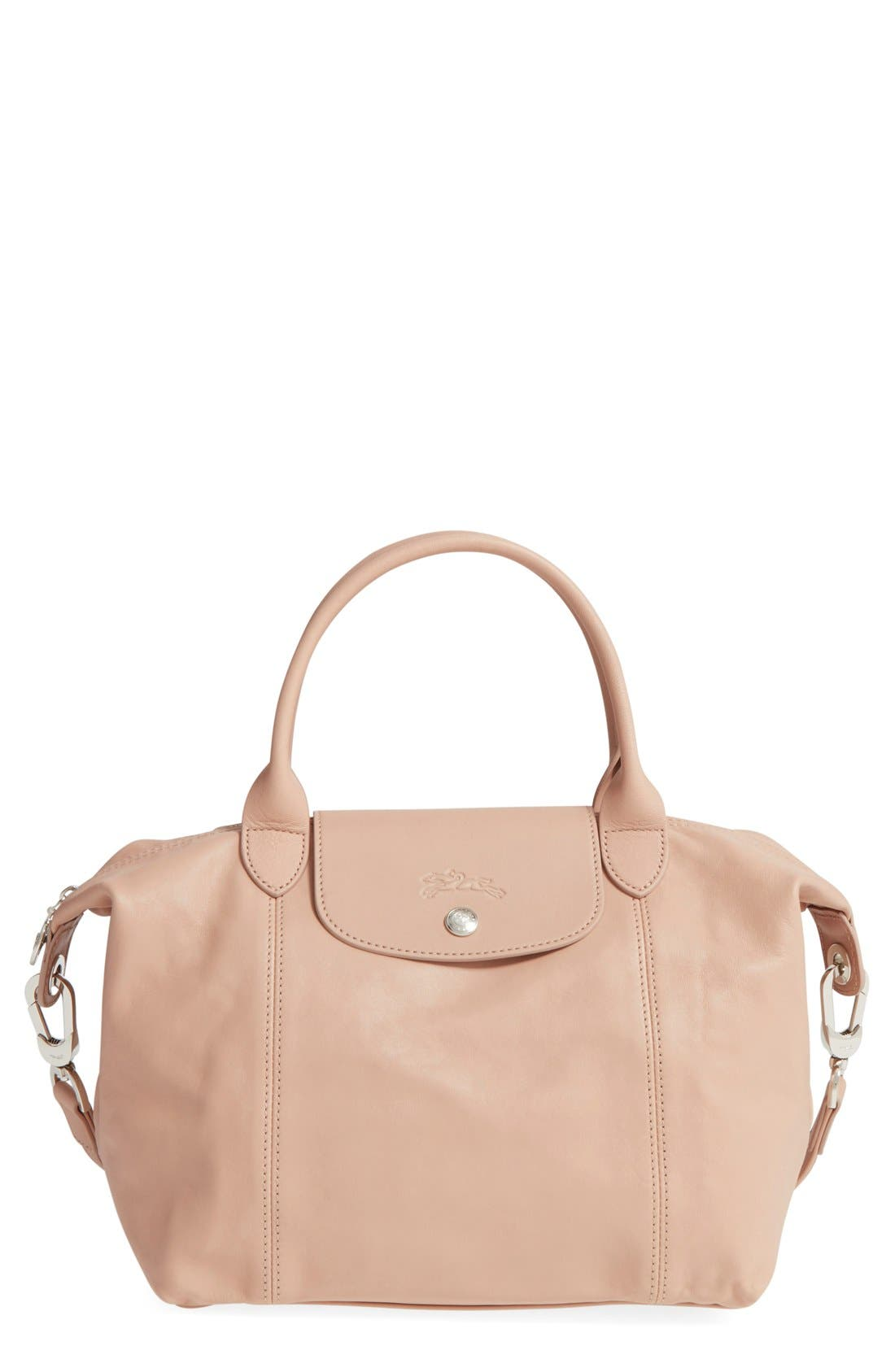 Small 'Le Pliage Cuir' Leather Top Handle Tote,                             Main thumbnail 10, color,