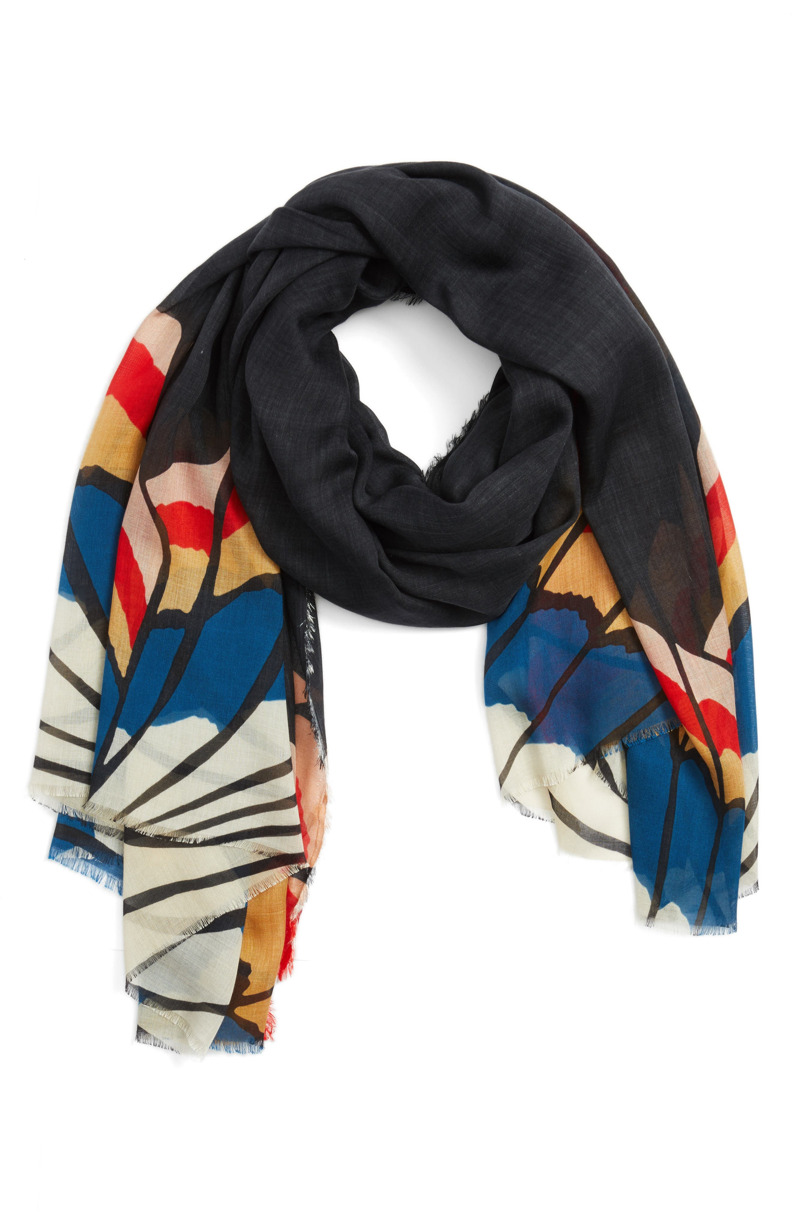 Abstract Print Scarf,                             Alternate thumbnail 2, color,                             001