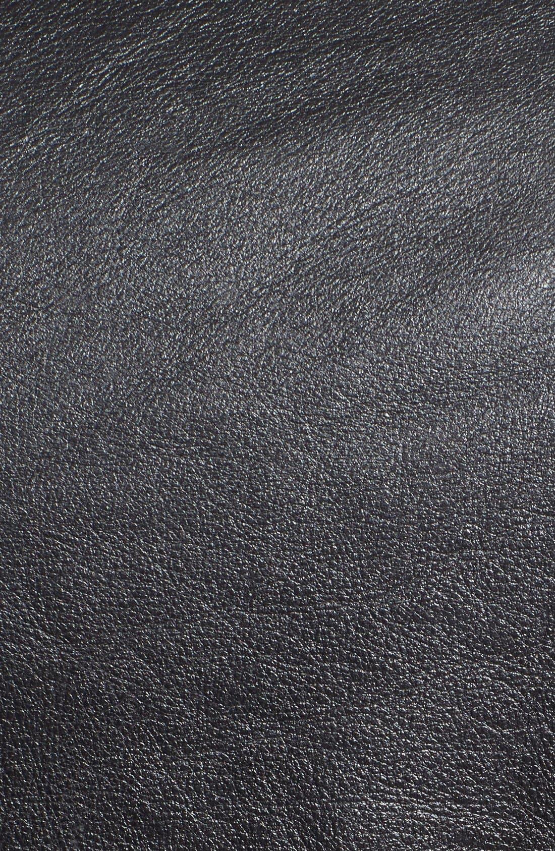 Hand Vintaged Cowhide Leather Motocycle Jacket,                             Alternate thumbnail 10, color,                             BLACK