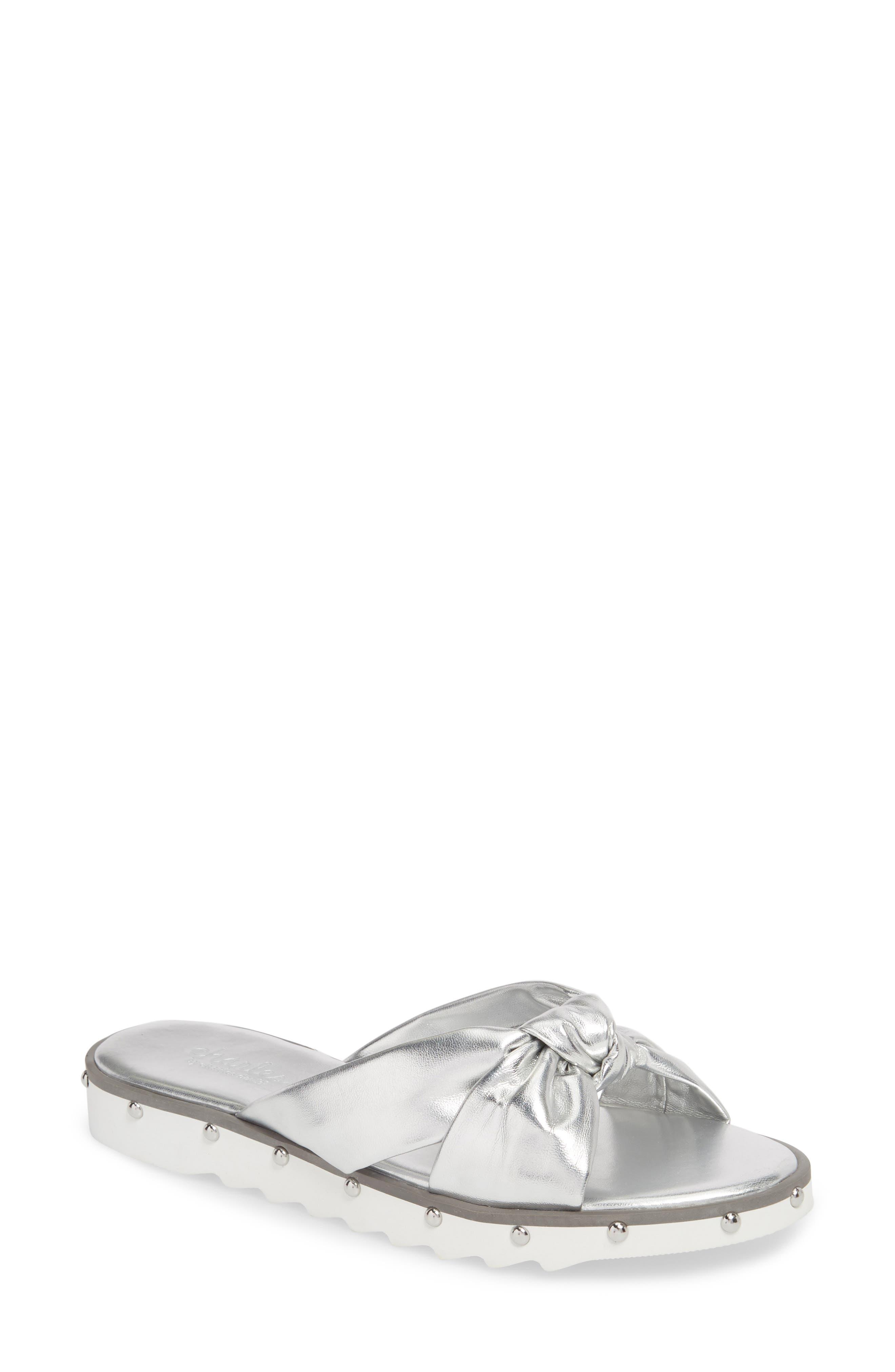 Charles By Charles David Snap Slide Sandal- Metallic