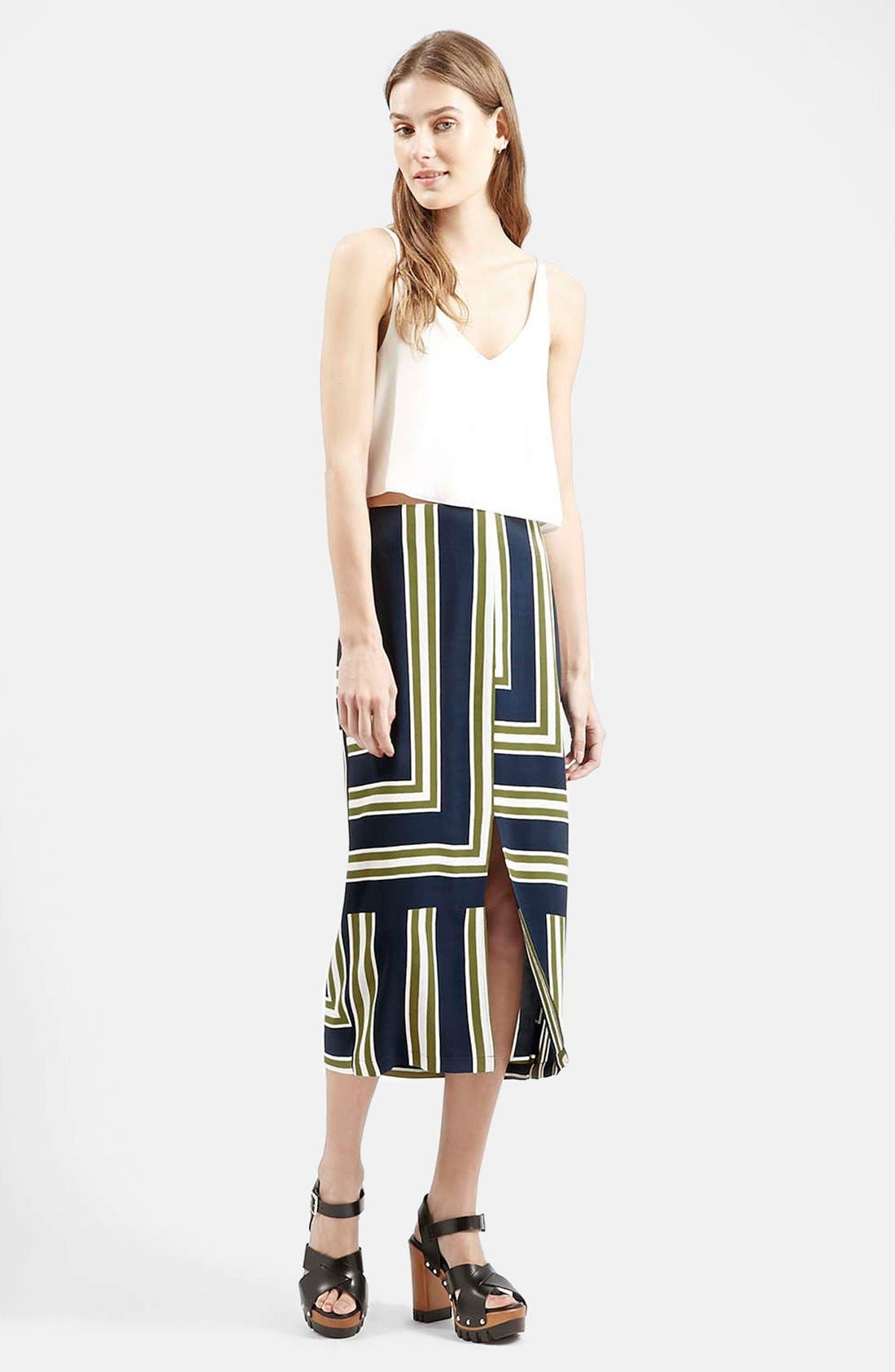 Slit Midi Skirt,                             Alternate thumbnail 5, color,                             410