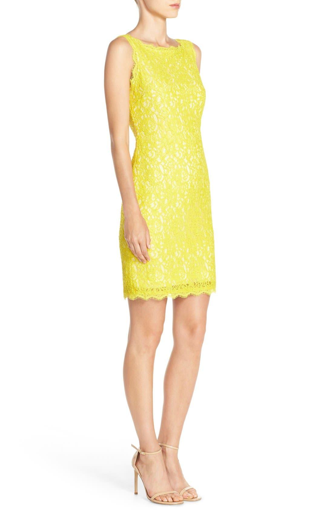 Boatneck Lace Sheath Dress,                             Alternate thumbnail 138, color,