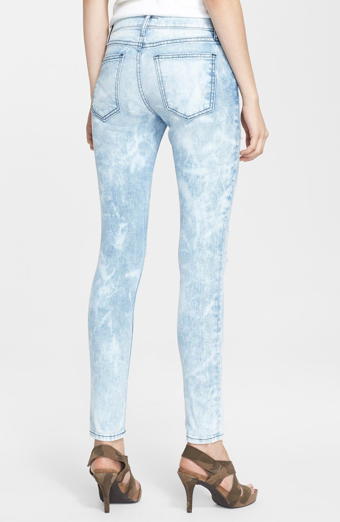 'The Stiletto' Destroyed Skinny Jeans,                             Alternate thumbnail 12, color,
