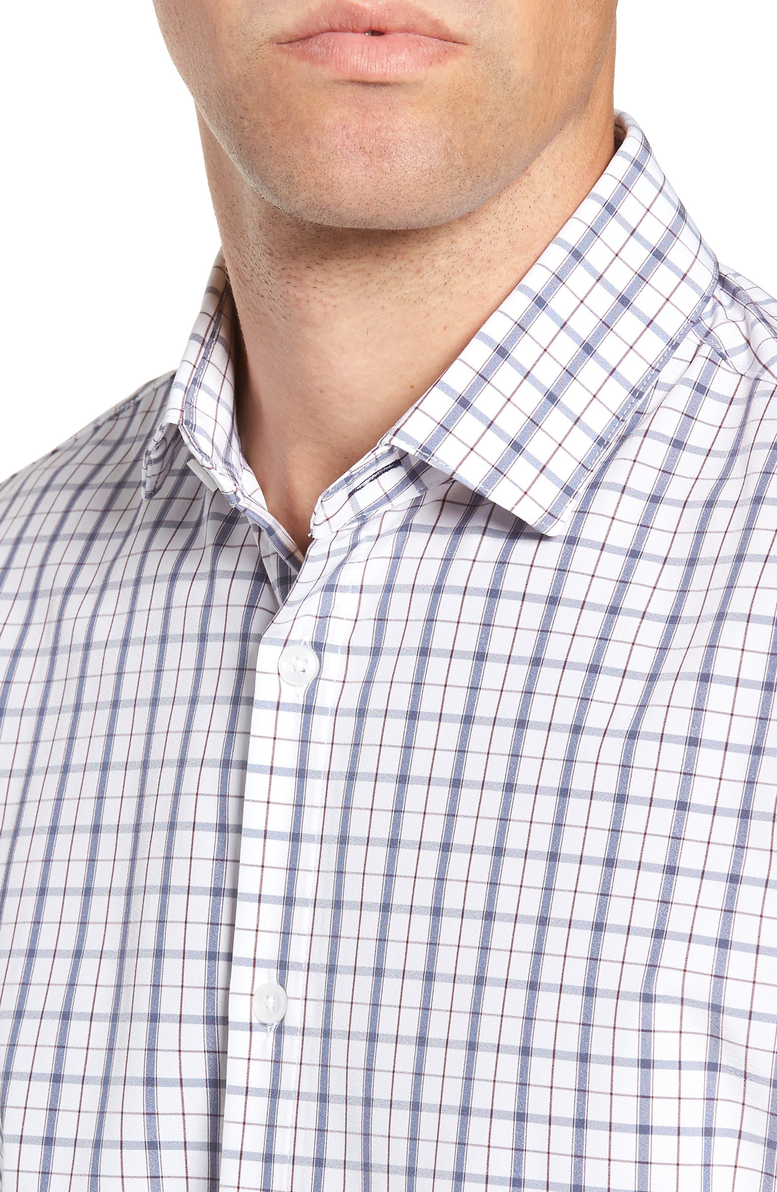 Moore Regular Fit Plaid Performance Sport Shirt,                             Alternate thumbnail 2, color,                             BLUE